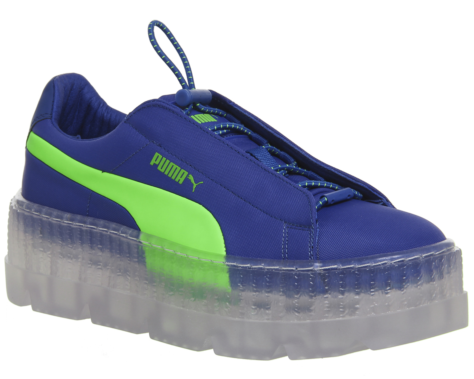Sentinel Womens Puma Fenty Cleated Creepers SURF DAZZLING BLUE GREEN  Trainers Shoes 7b68849cd