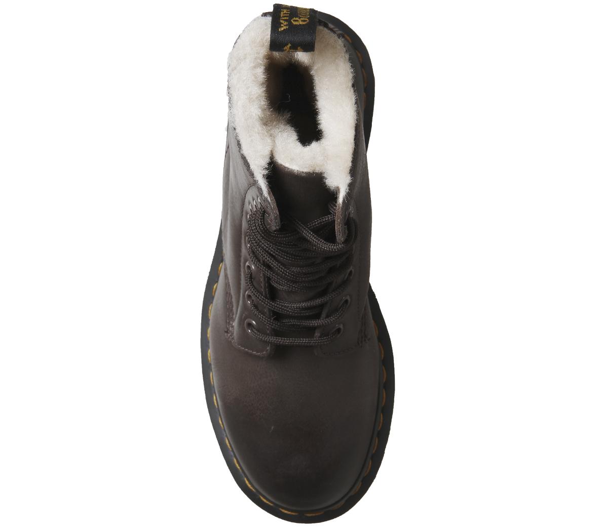 7b86fac7e86 SENTINEL Occhiello di Dr. Martens Serena 8 Womens stivali Wyoming marrone  scuro