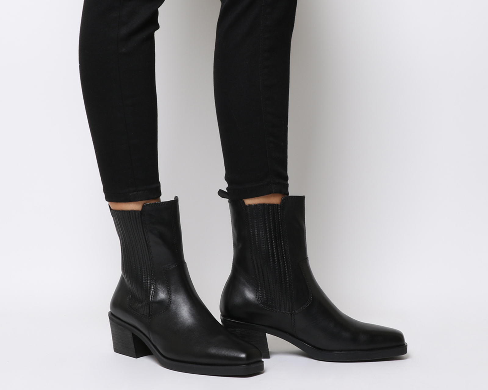 9b96ba9ded0 Details about Womens Vagabond Simone High Chelsea Boots Black Leather Boots