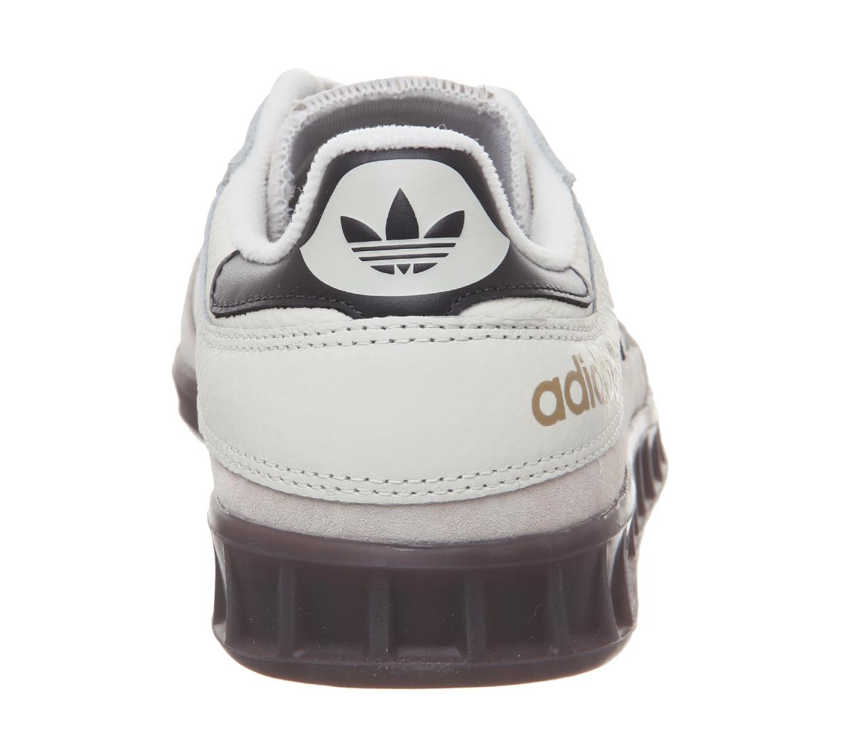 Détails sur Adidas Handball Haut Baskets Off Carbone Blanc Transparent Marron Chaussures