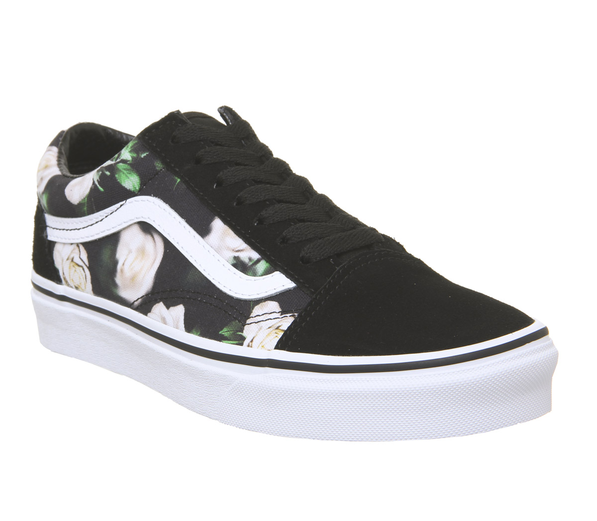 fc53ff9b2d Sentinel Womens Vans Old Skool Trainers Black Floral True White Trainers  Shoes
