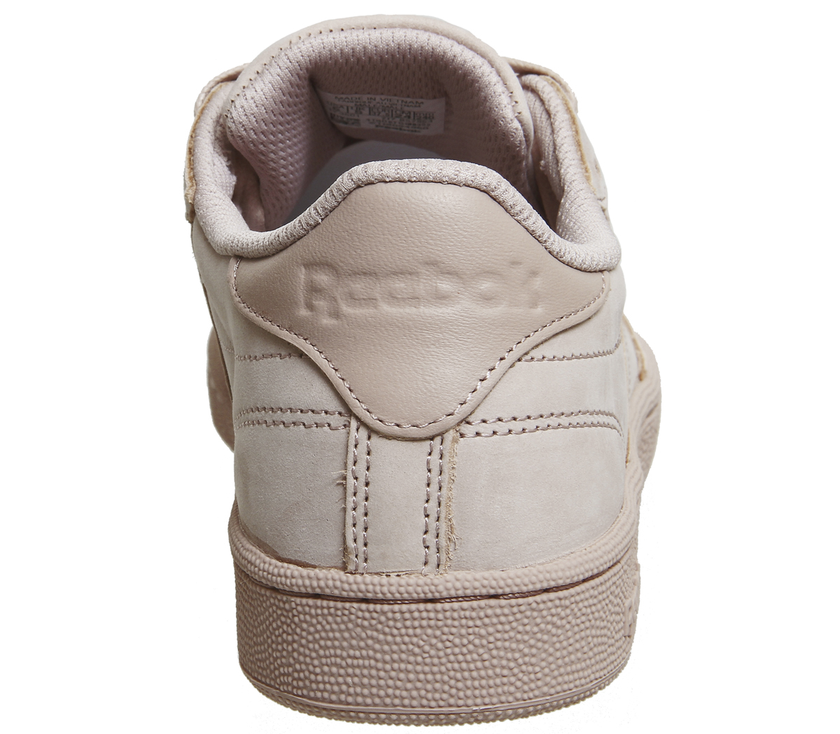 Sentinel Reebok Club C 85 Shell Pink Gold Trainers Shoes b30078d66