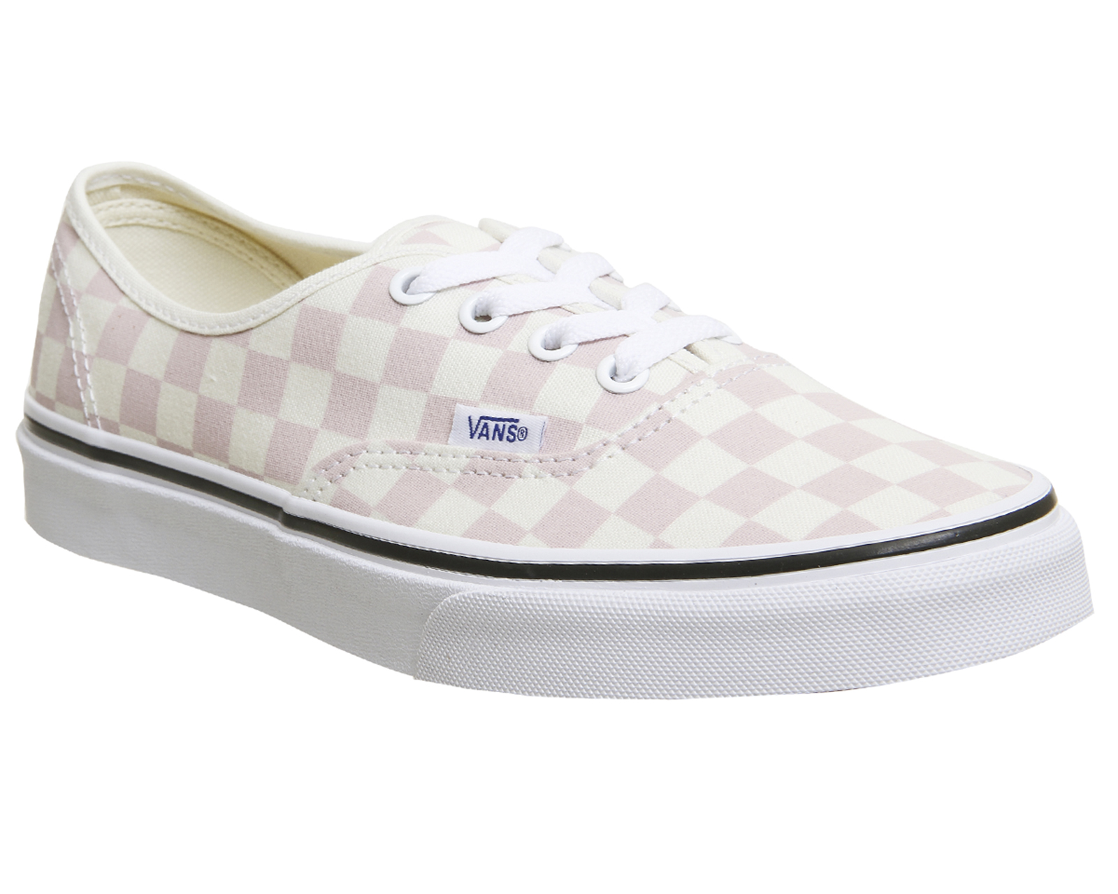 04c1473a1d Sentinel Vans Authentic Trainers LIGHT PINK WHITE CHECKERBOARD Trainers  Shoes