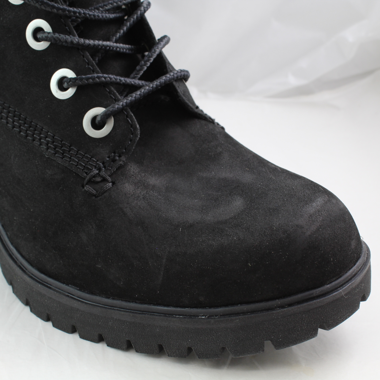 ee209cf82e5 Womens Timberland Black Leather Lace-Up Ankle Boots Size UK 4 *Ex ...