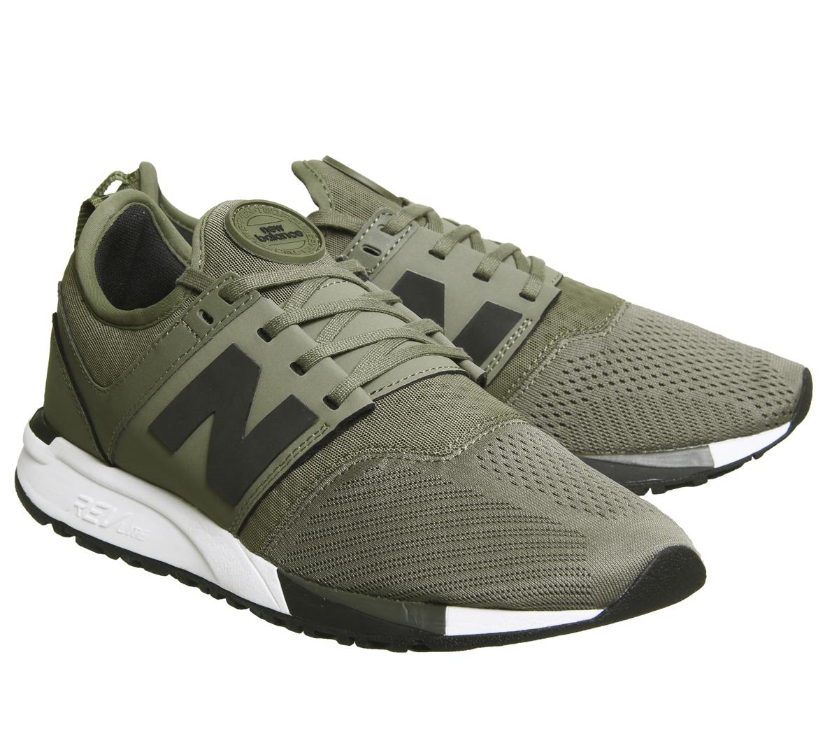 ff878880396 Para Hombre 247 tenis Oliva Tenis New Balance Zapatos