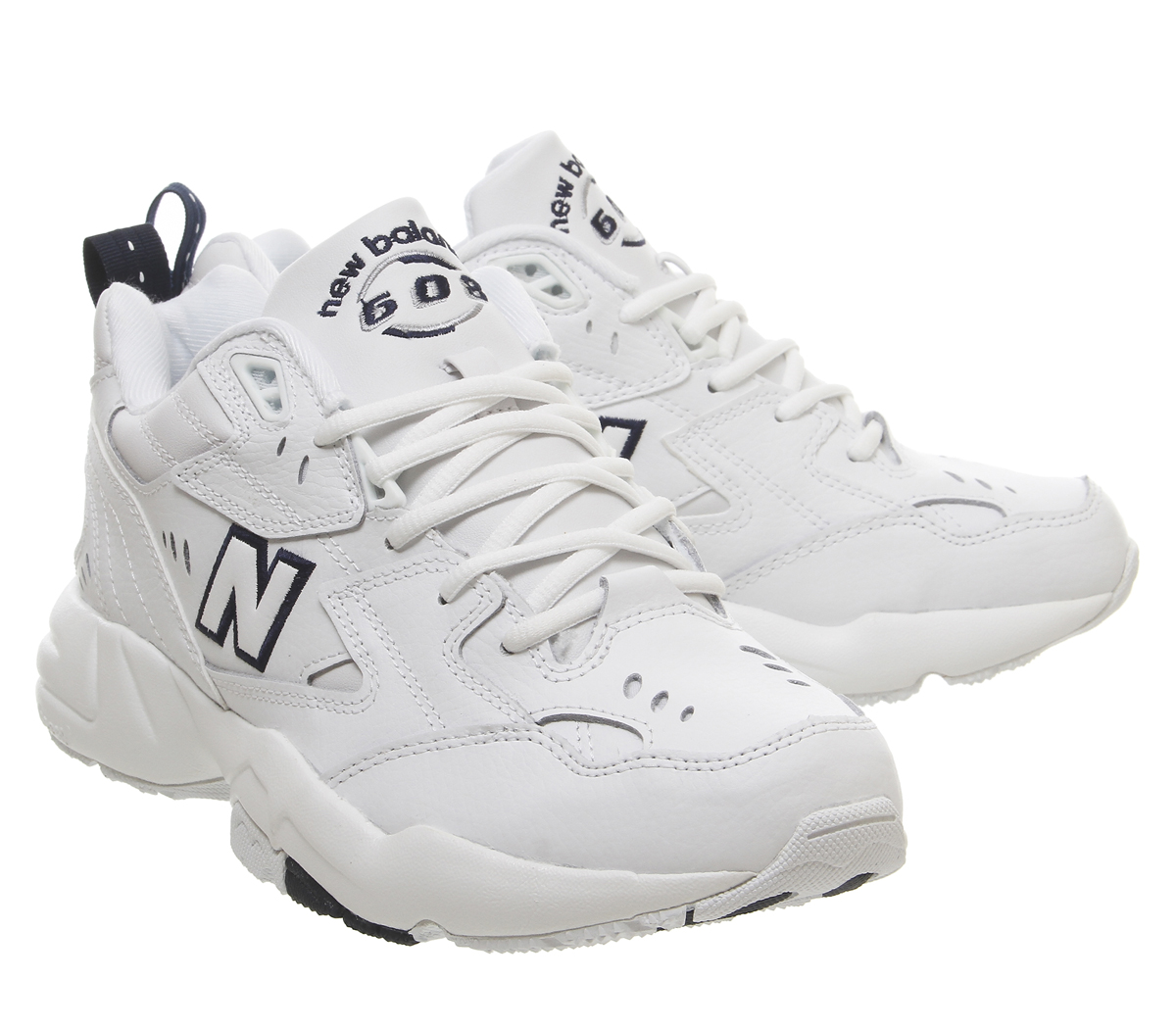 835750c4abc08 New Balance 608 Trainers White Navy Trainers Shoes