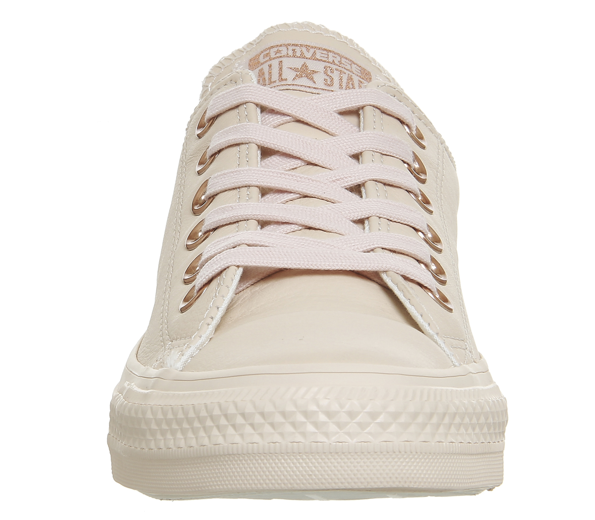 a0a91ddc2e1b Sentinel Womens Converse All Star Low Leather Pastel Rose Tan Rose Gold  Trainers Shoes