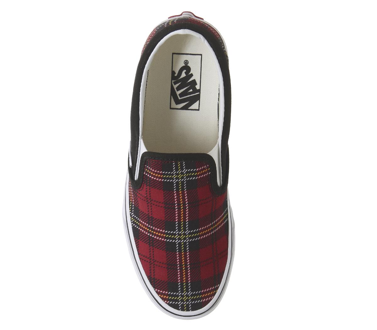 23a1a701556 Womens Vans Vans Classic Slip On Trainers Chili Pepper True White ...