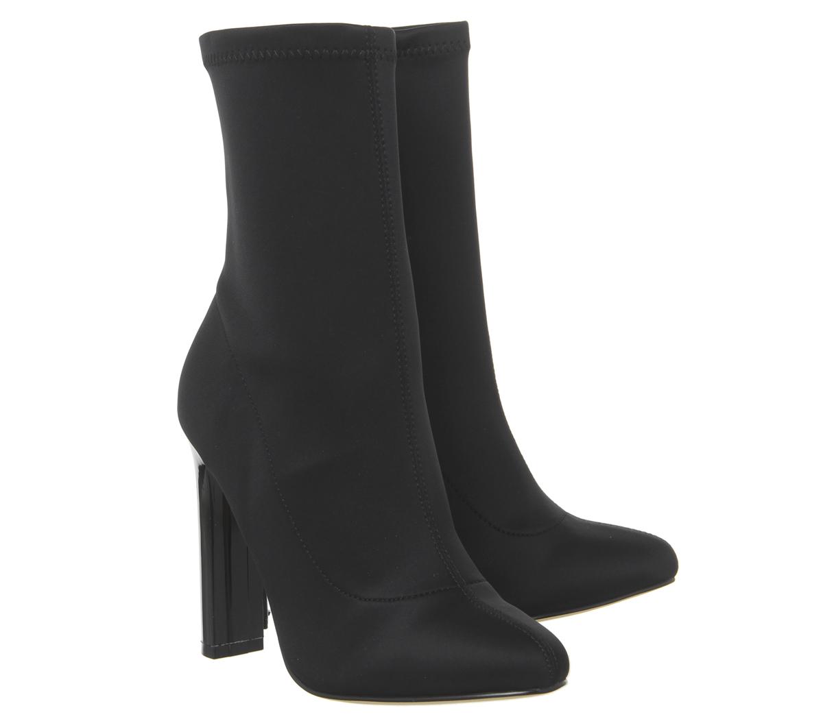 Womens Office blue blue blue Sock Boots Black Boots 3dc6c4