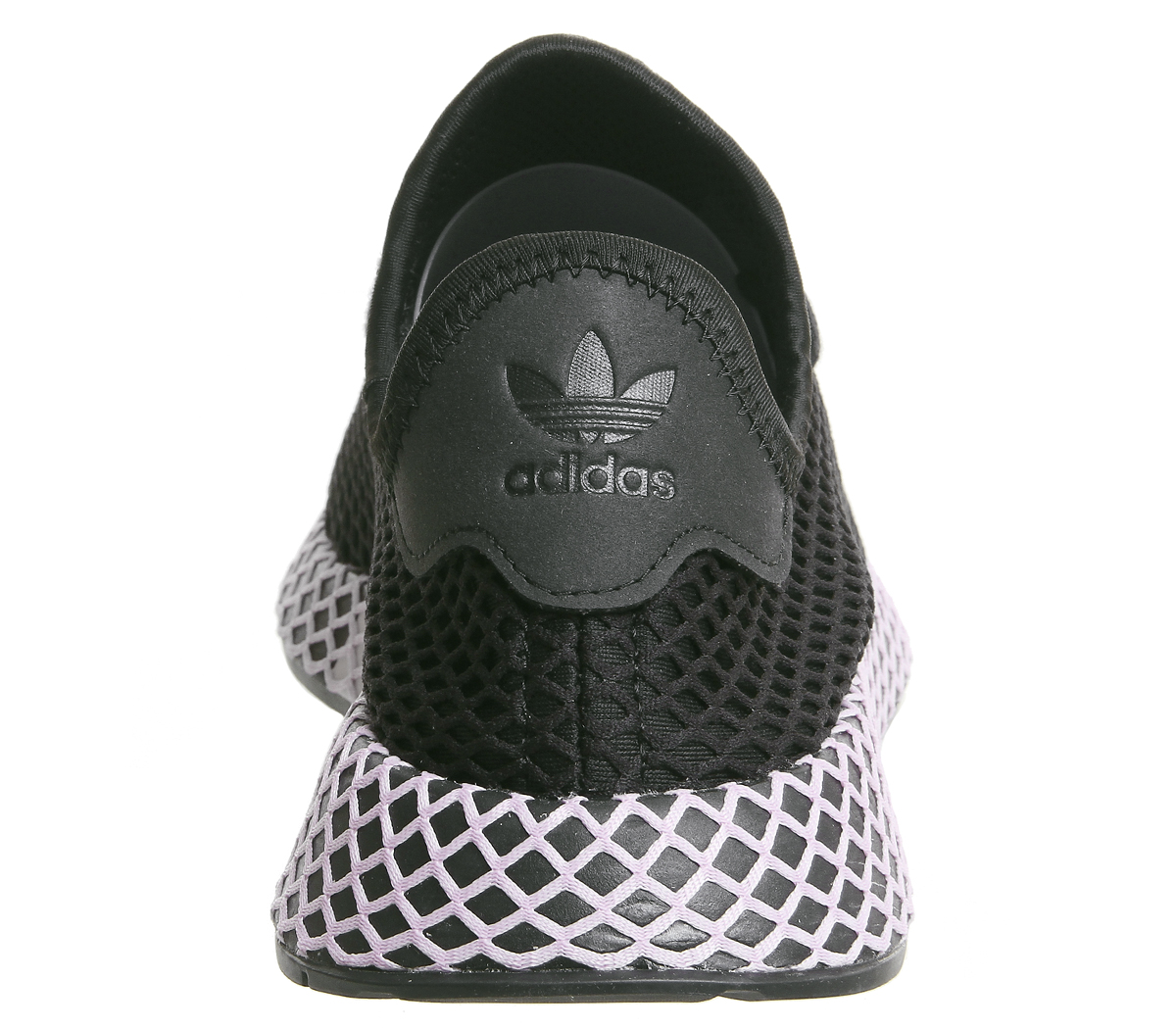 78b261dea Womens Adidas Deerupt Trainers Core Black Clear Lilac F Trainers ...