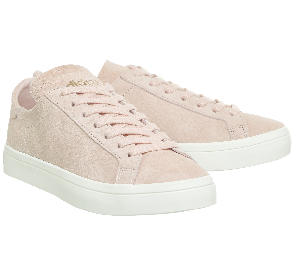 87e697dd83d7 Sentinel Womens Adidas Court Vantage Trainers VAPOUR PINK OFF WHITE  Trainers Shoes