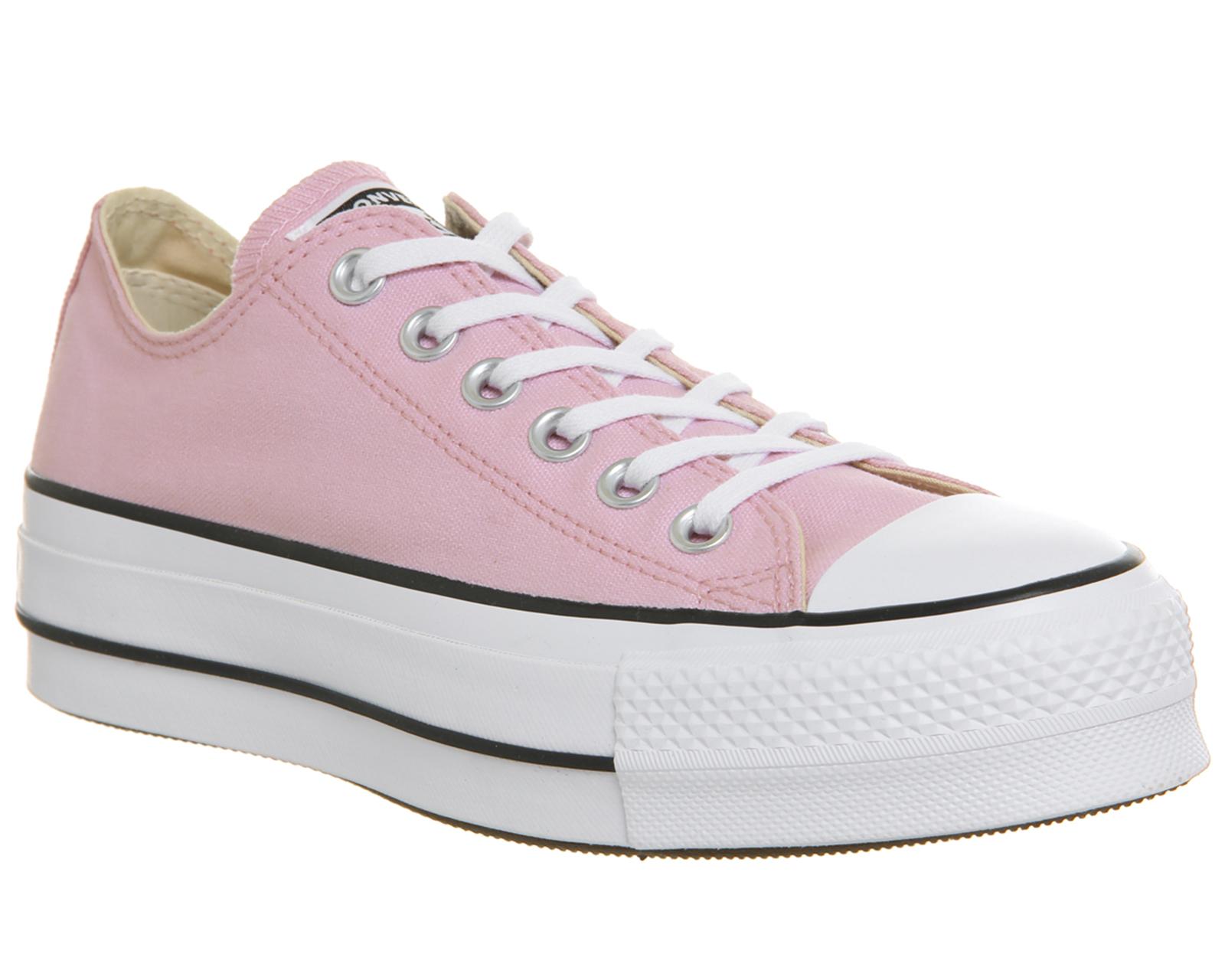 ec1d6888a9ff6 SENTINEL Womens Converse All Star Lift basso formatori del fiore di  ciliegia bianco formatori scarpe