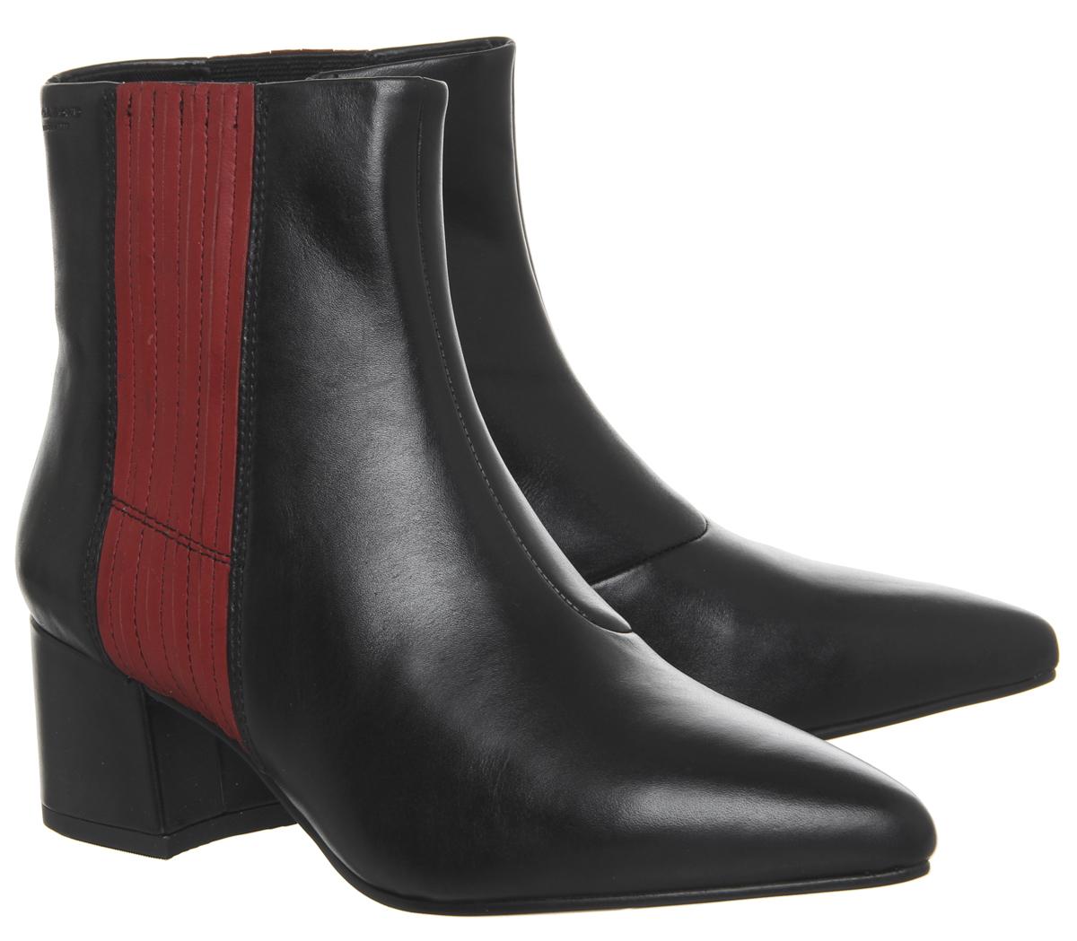 Mujer Botas al Tobillo Vagabond Negro MYA Botas Negro Vagabond Rojo a Rayas 4cc74d