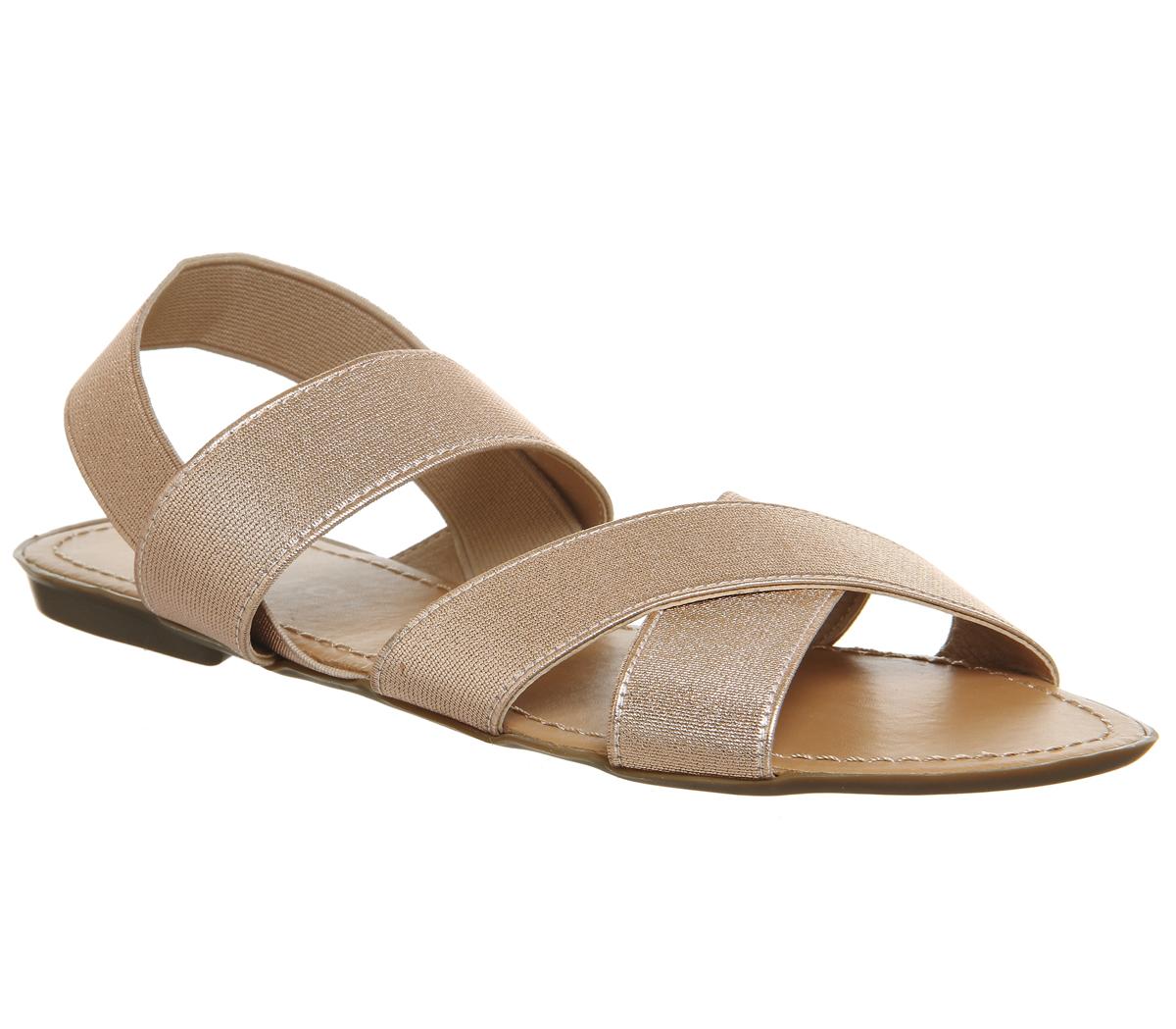 donna OFFICE Skippy ELASTICO CROCE Sandali con cinturino sandali neri