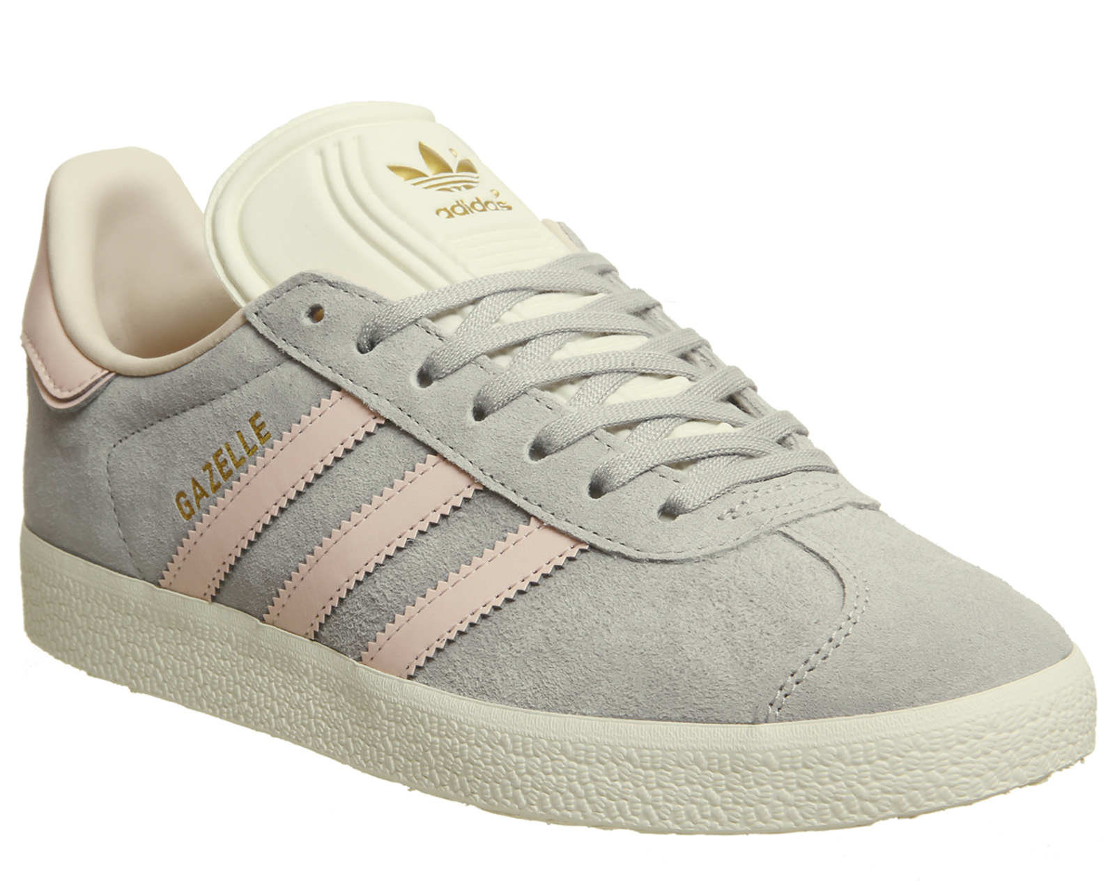 1e01c5e7d533 Sentinel Womens Adidas Gazelle Trainers Grey Two Icey Pink Cream White  Exclusive Trainers
