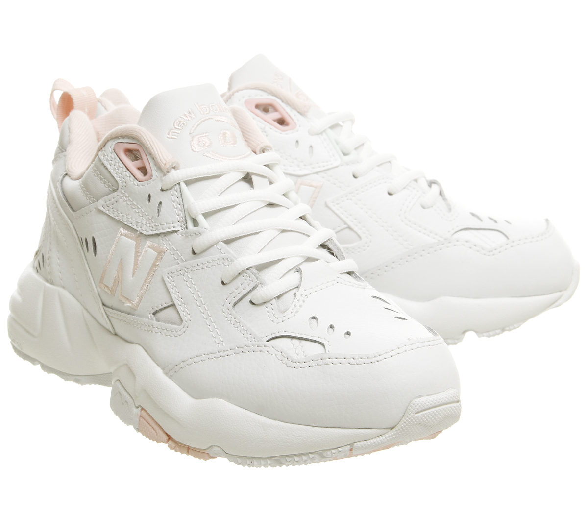 c313eb90b30 Womens New Balance 608 Trainers Cream Pink Trainers Shoes