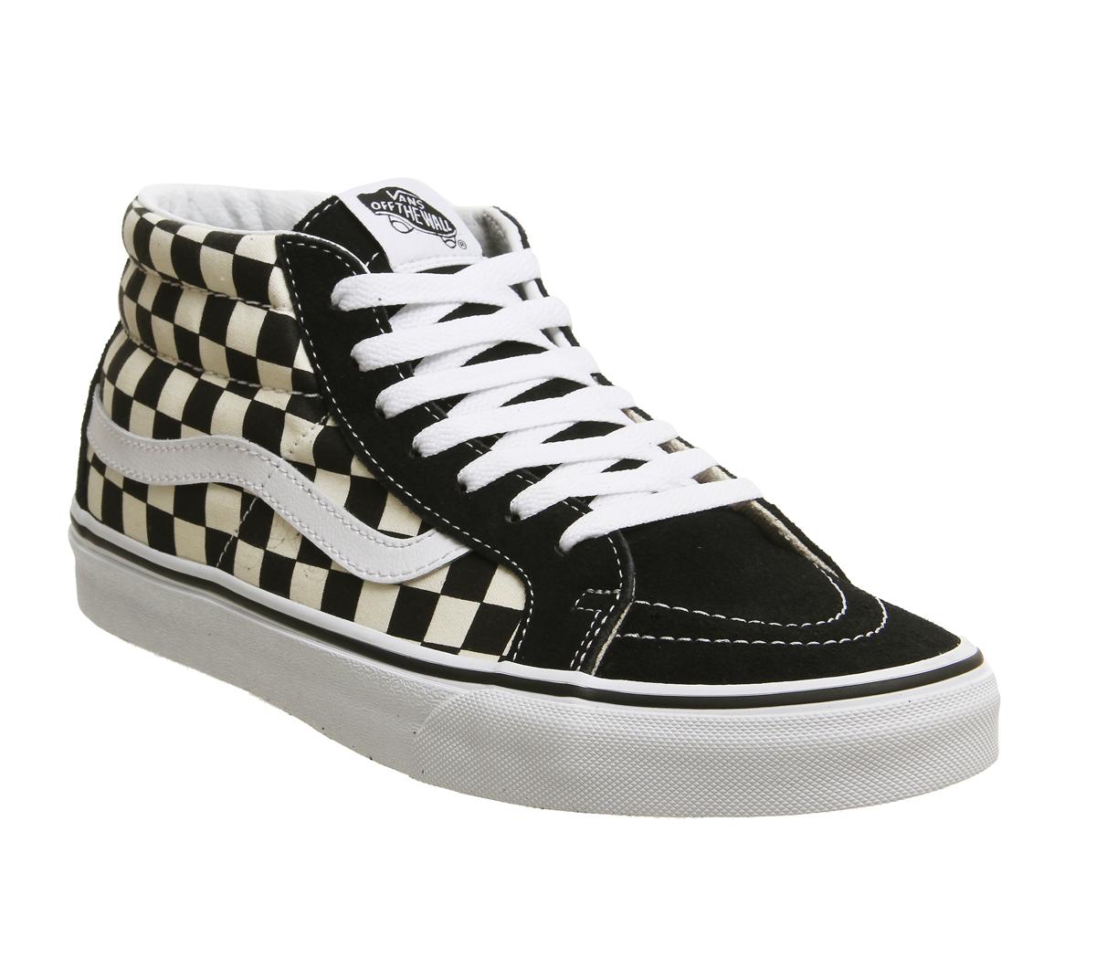 SENTINEL Womens Vans Sk8 Mid scarpe formatori di formatori correttore  bianco nero bb9bf13d6fe