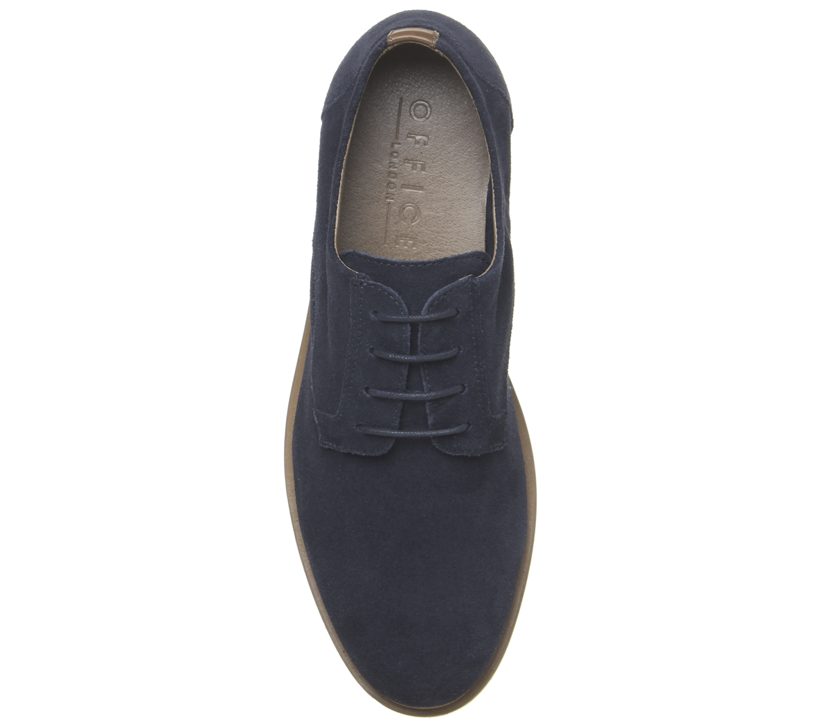 Mens-Office-Item-Derby-Shoes-Navy-Suede-Casual-Shoes thumbnail 9