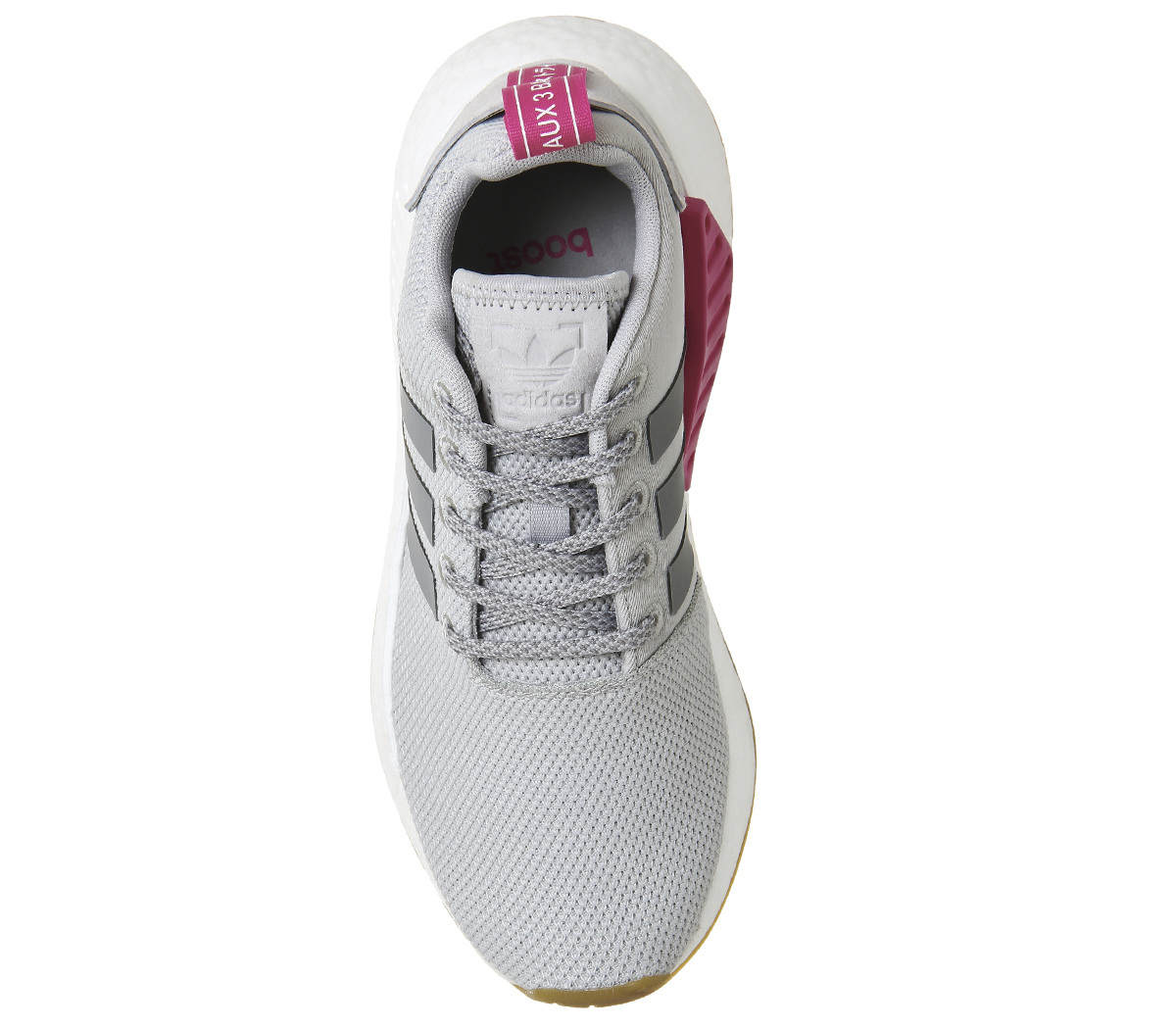 new york 4ae54 512a0 Sentinel Womens Adidas Nmd R2 Trainers GREY TWO PINK Trainers Shoes