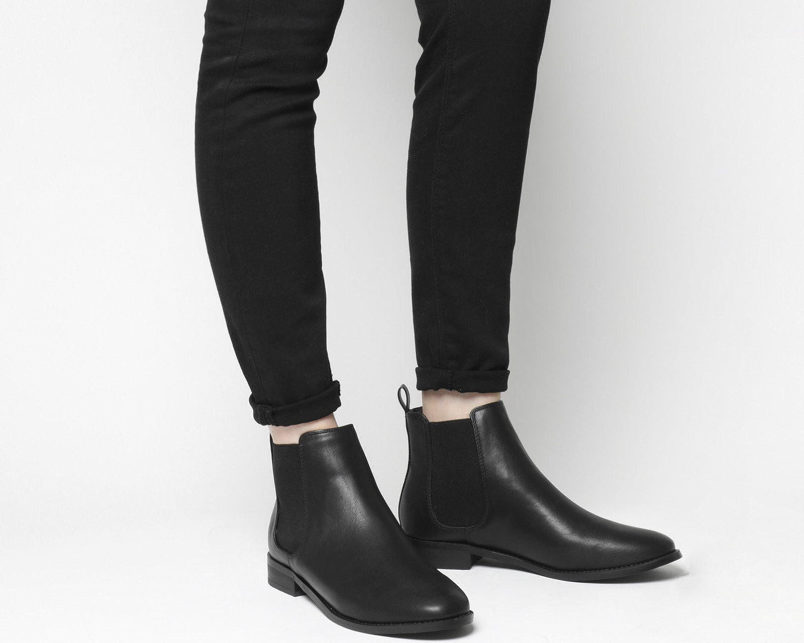 Womens Office Andy Chelsea Boots Black