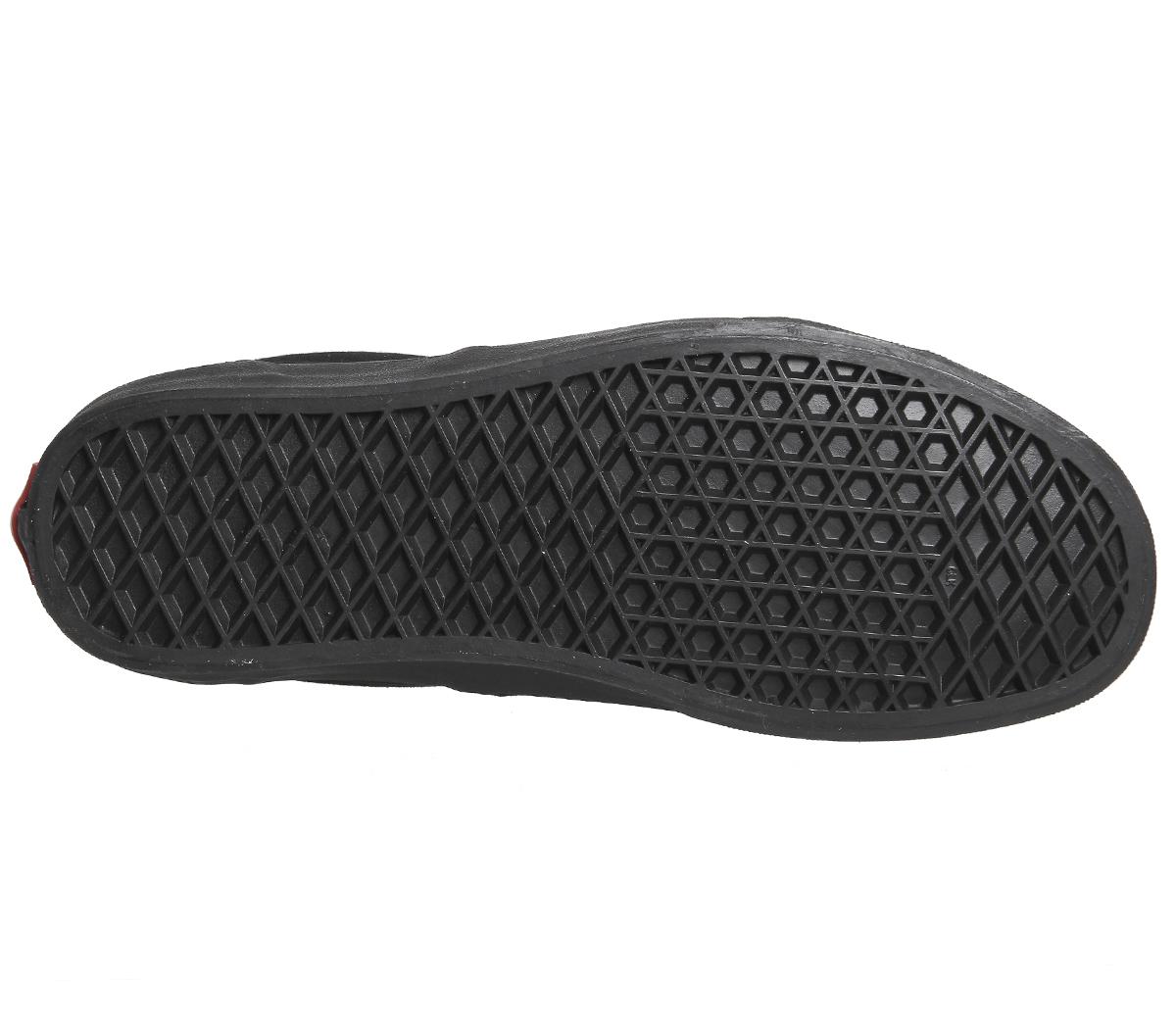 Mens Vans Era Trainers BLACK MONO Trainers Schuhes