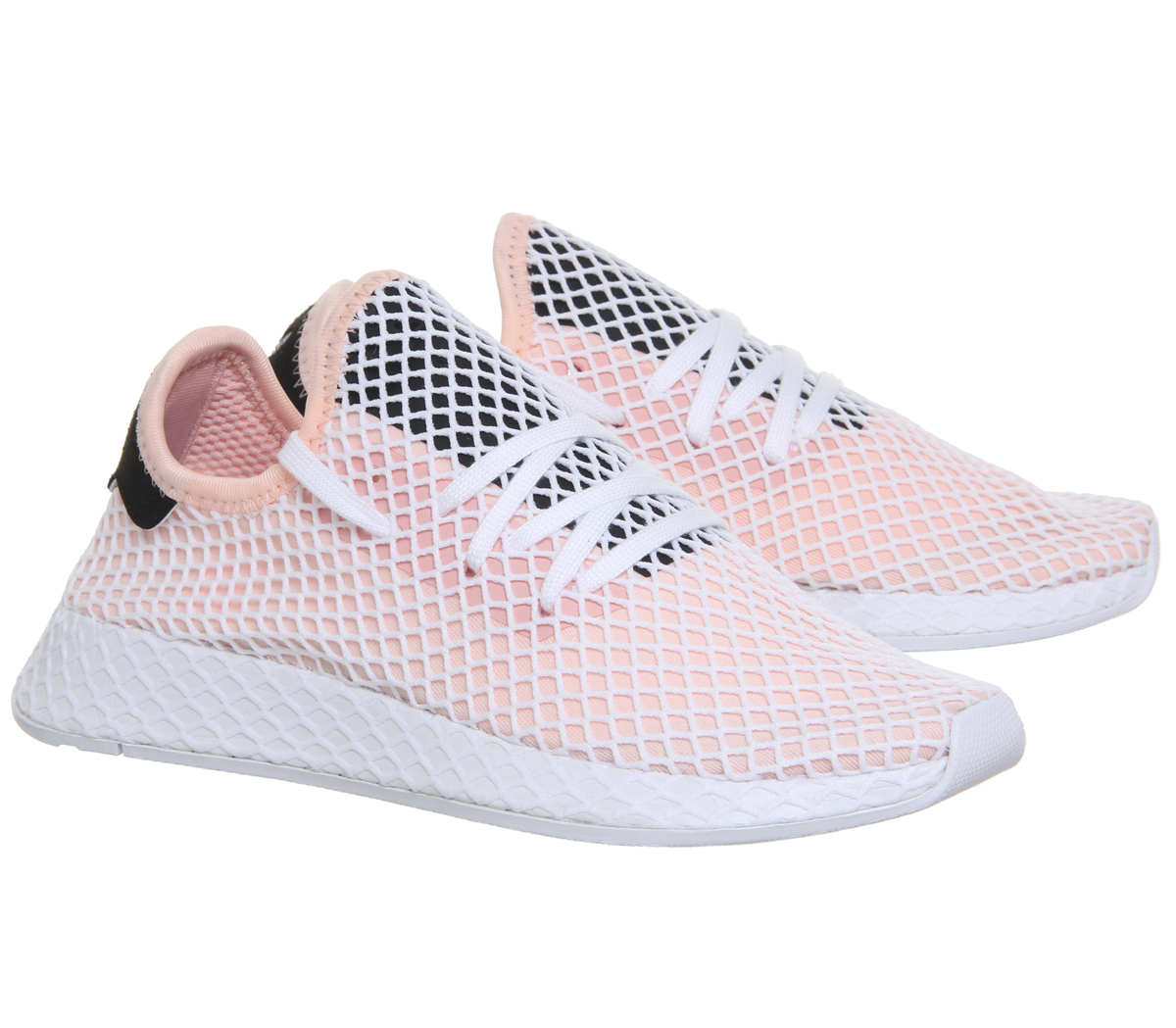 230ca2bcc Mens Adidas Deerupt Trainers Pink White Core Black Trainers Shoes