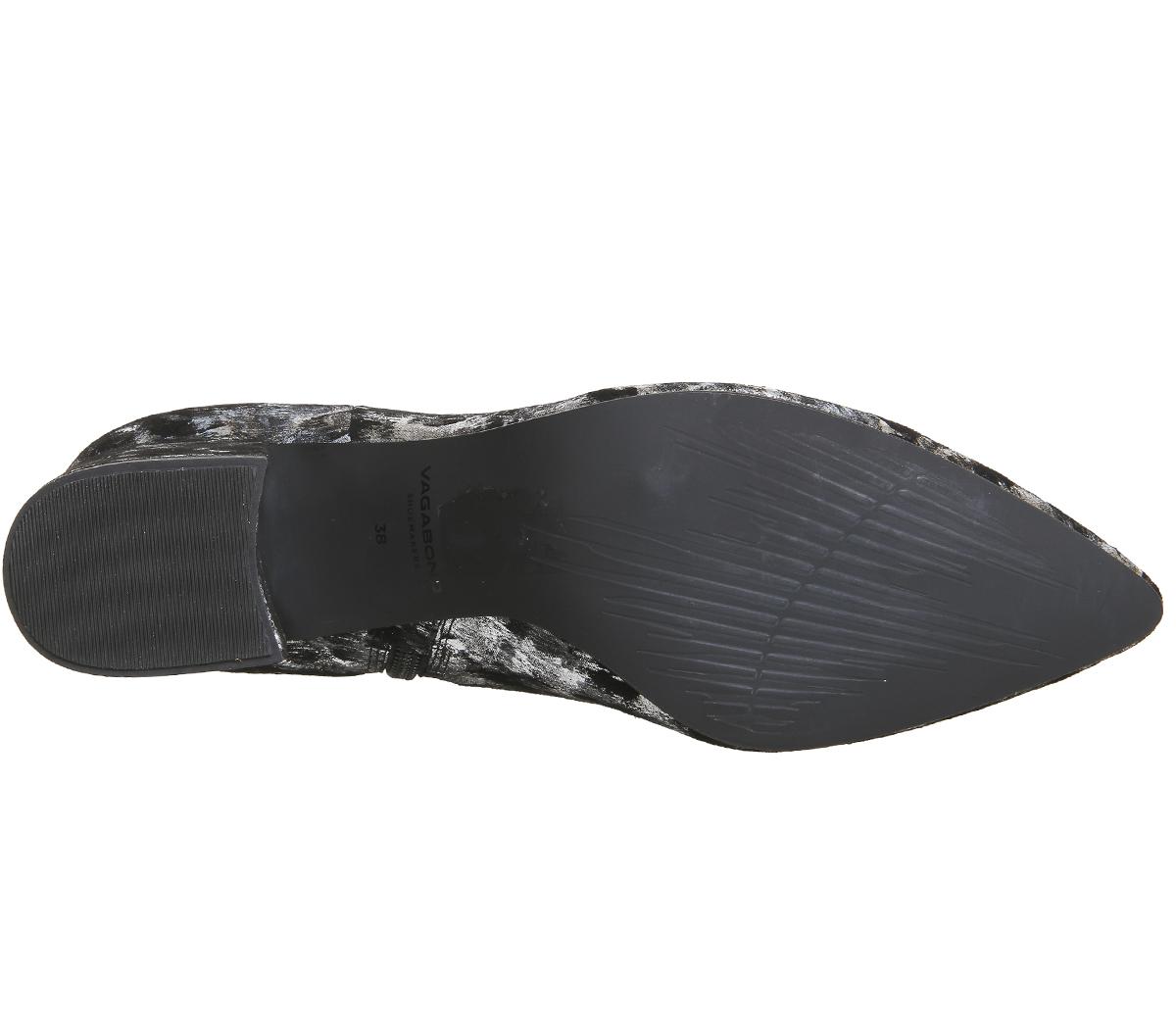 Womens Vagabond Mya Boots Black Silver Boots