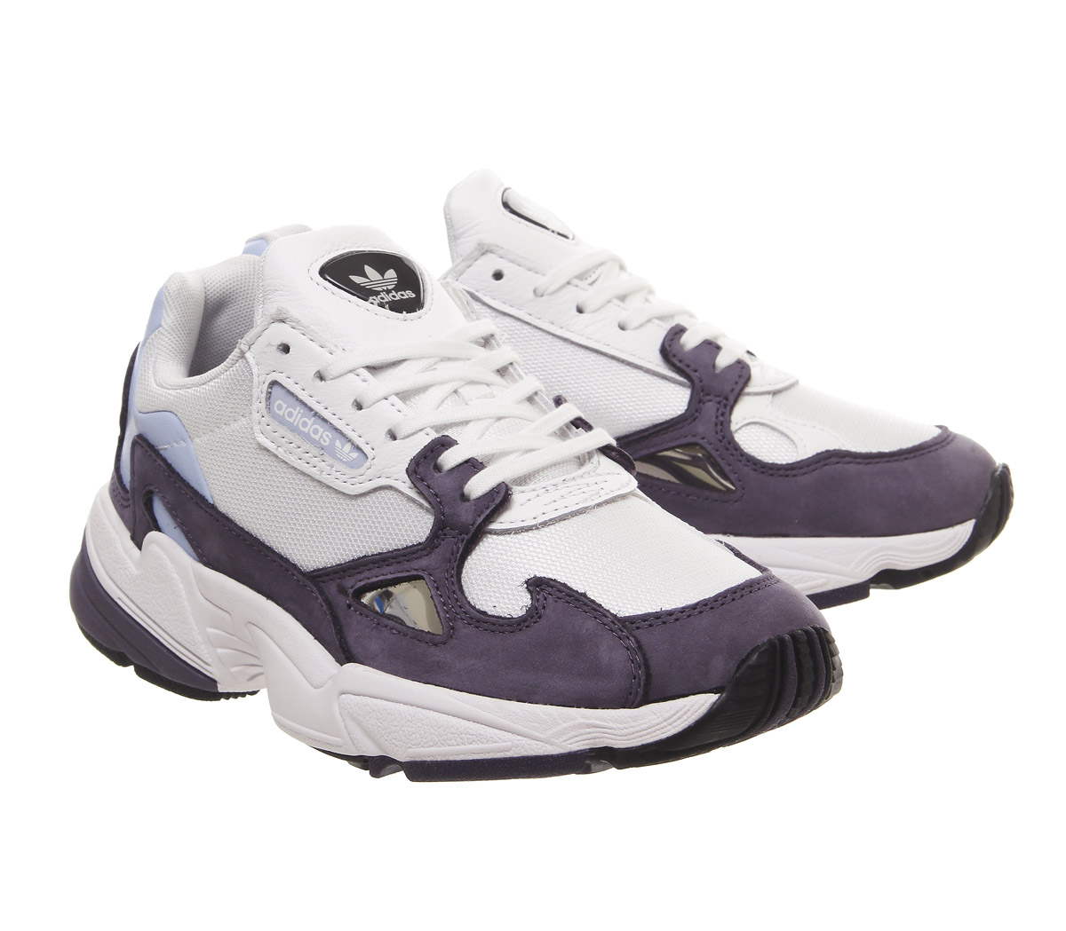 Details zu Womens Adidas Falcon Trainers Trace Purple White Core Black  Trainers Shoes