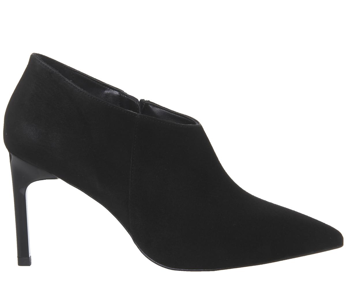 neri ufficio pelle Scarpe Heel Shoeboots da donna per in scamosciata Tacchi Sleek Mairead Txw7Aqax