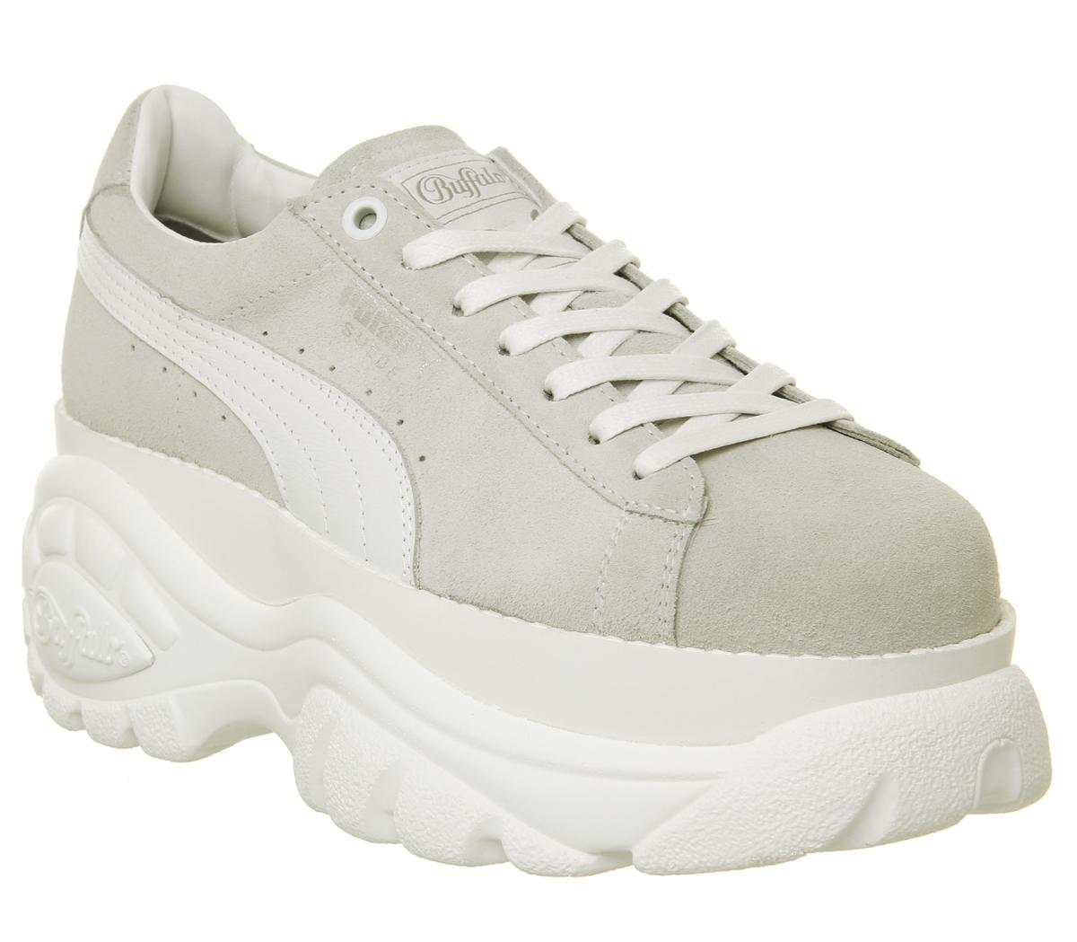 96402dbd24b45 SENTINELLE Womens Puma Suede Puma de Buffalo blanc chaussures formateurs