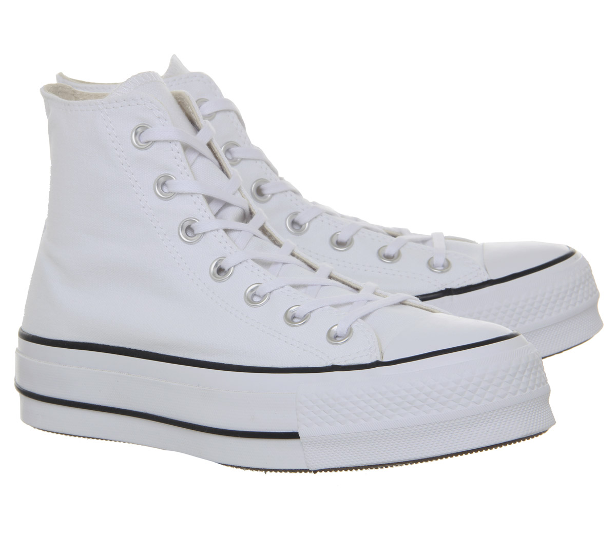 8ec7fce7e5e9 Womens Converse All Star Lift Hi Trainers White Black White Trainers ...