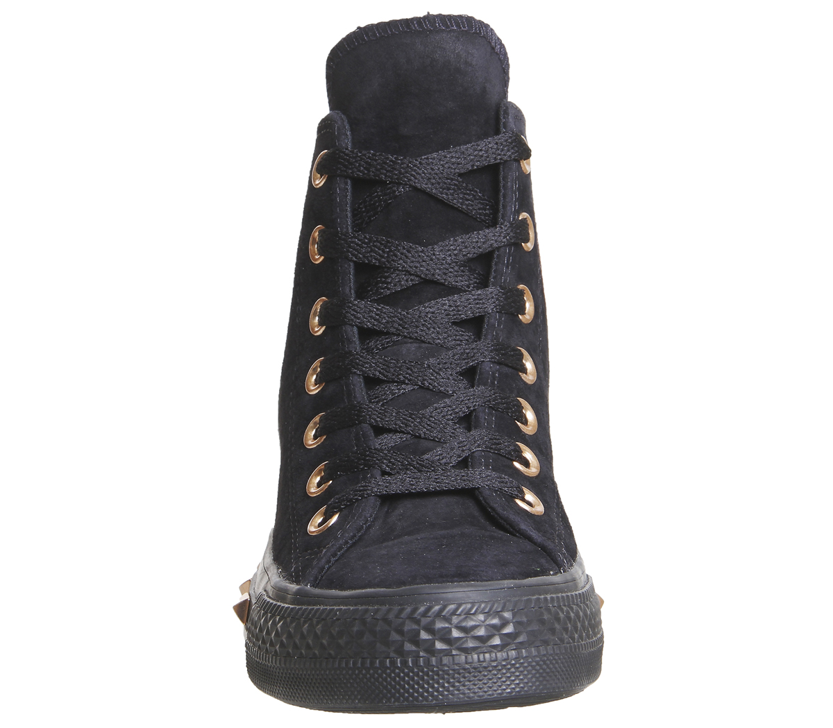 efcf20c49 Sentinel Womens Converse All Star Hi Leather STUD BLACK PARTICLE BEIGE BLUSH  Trainers Sh