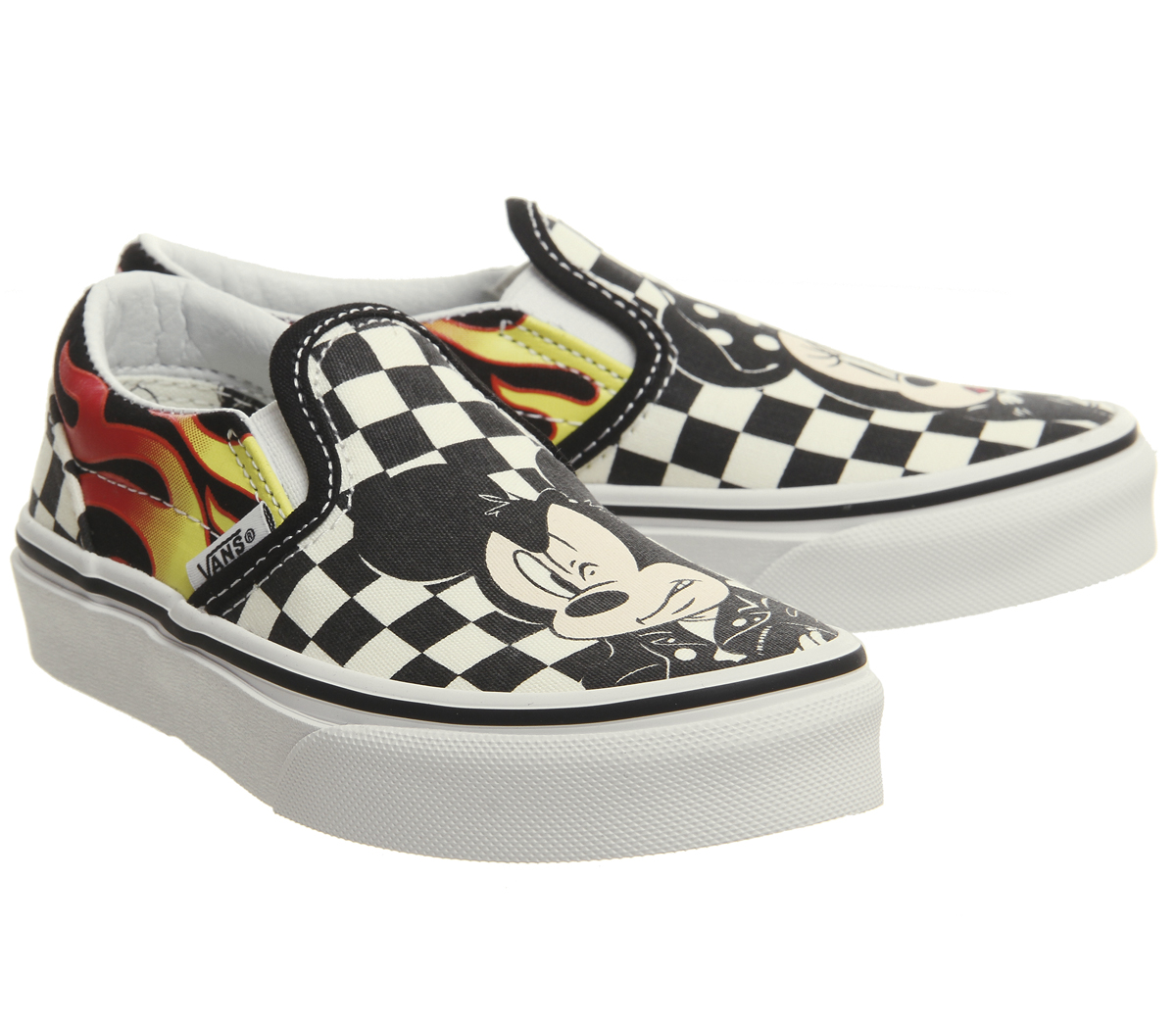 b2fe573a39910c Kids Vans Classic Slip On Kids Trainers Mickey And Minnie Checker ...