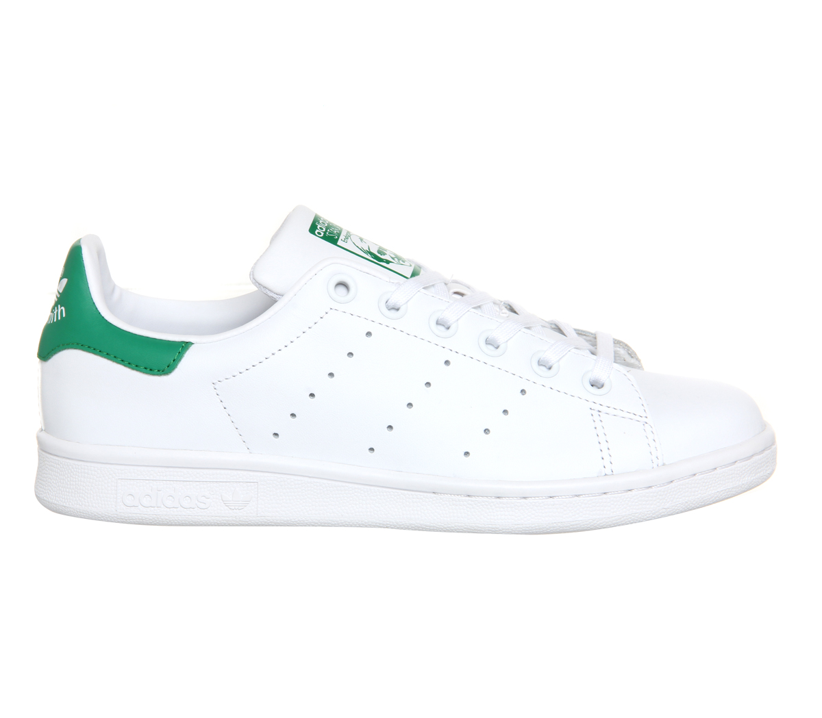 Sentinel Mens Adidas Stan Smith Trainers Core White Green Trainers Shoes 7ac7439ec
