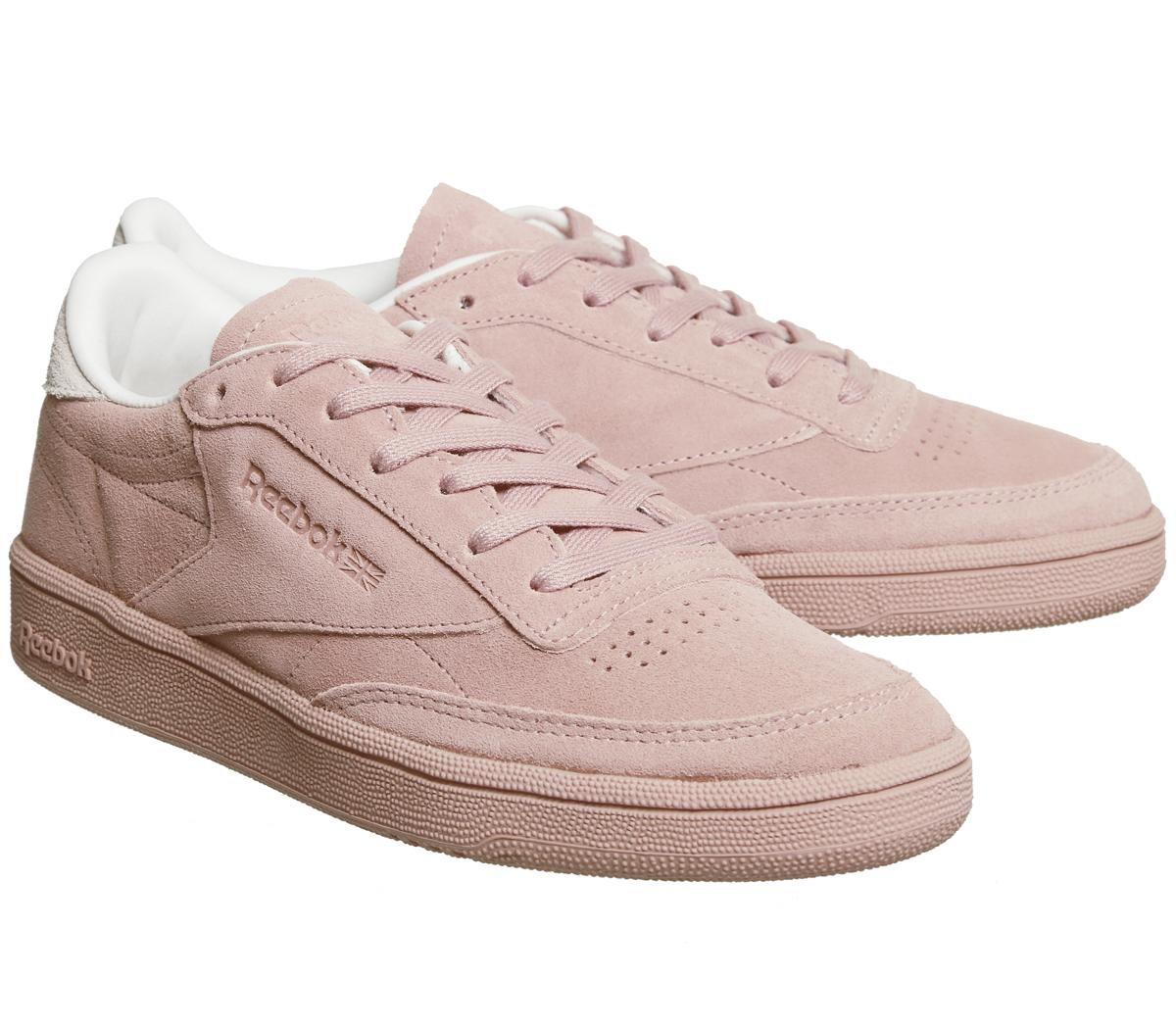 sports shoes f6141 43cd7 ... Para Mujer Reebok Club C 85 entrenadores Tiza Rosa Rosa Pálido  Zapatillas Zapatos ...