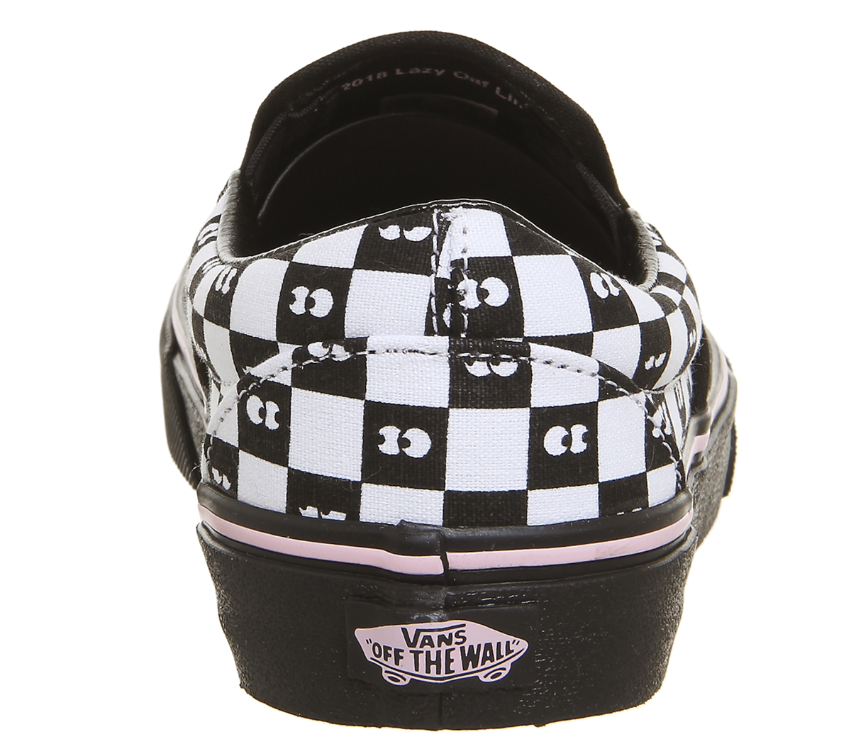 Sentinel Womens Vans Vans Classic Slip On Trainers Lazy Oaf Eyeballs  Checkerboard Trainer fa4888866