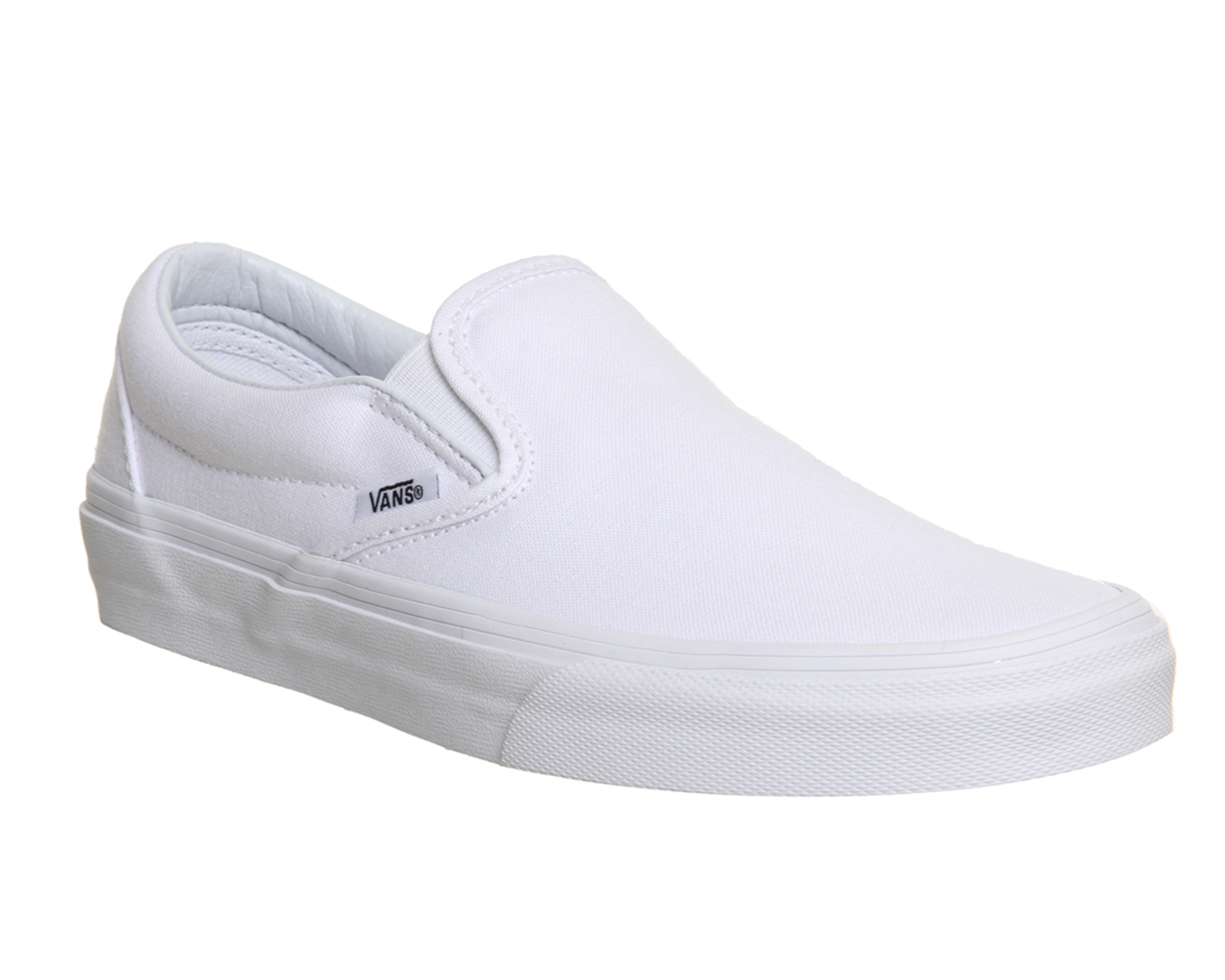 5d42af05f8 Sentinel Mens Vans Classic Slip On Trainers White Mono Trainers Shoes