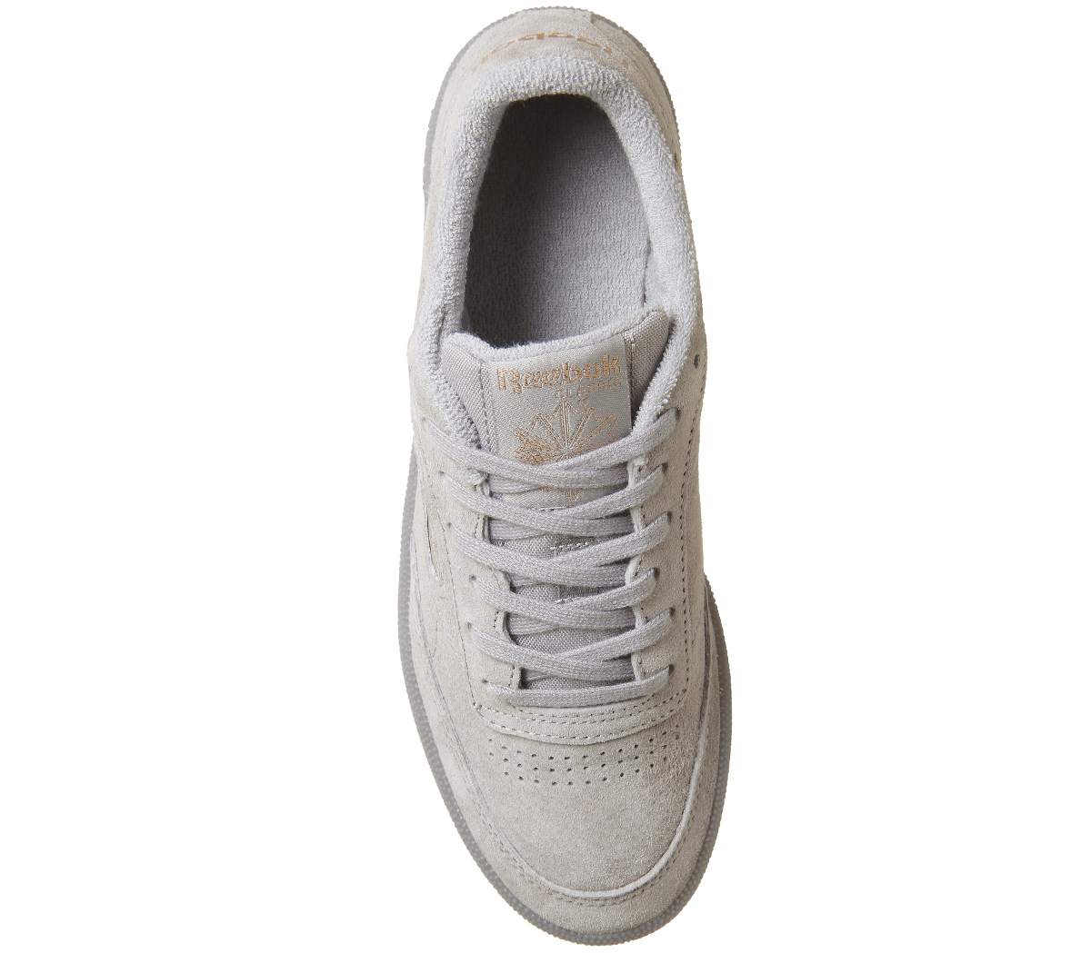Donna Reebok Club C 85 GOLD Trainers SKULL GREY ROSE GOLD 85 EXCLUSIVE Trainers Shoes 959269