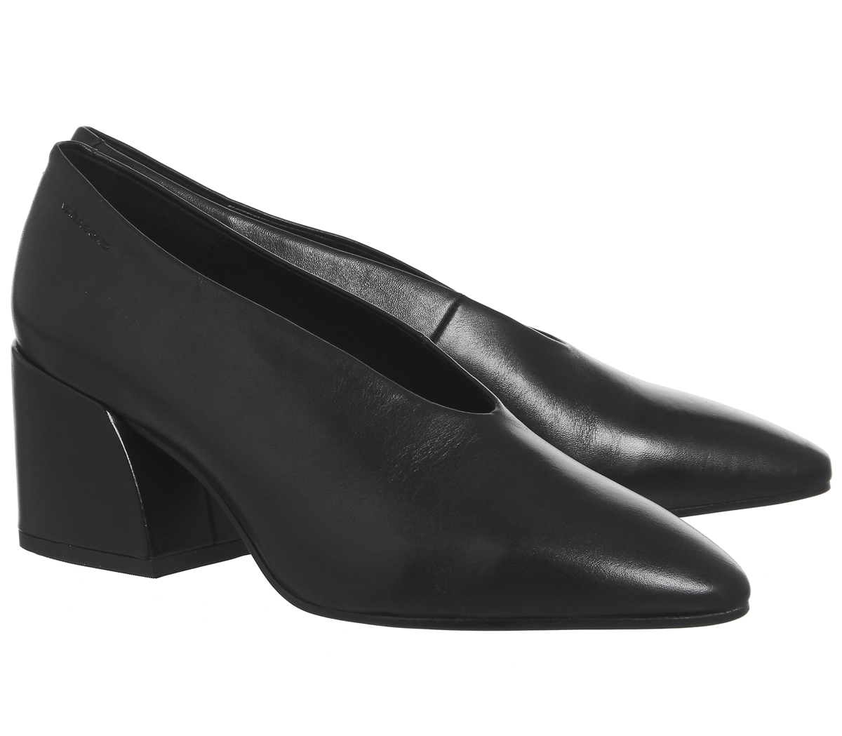 7482d10ddb77 Womens Vagabond Olivia Block Heels Black Leather Heels