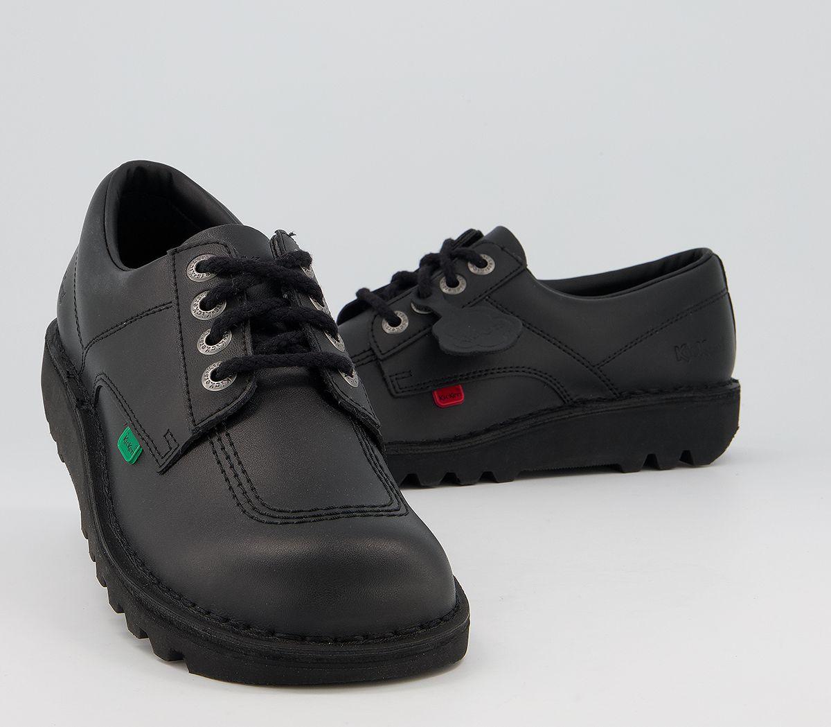 thumbnail 5 - Mens Kickers Kick Lo M Black Leather Formal Shoes