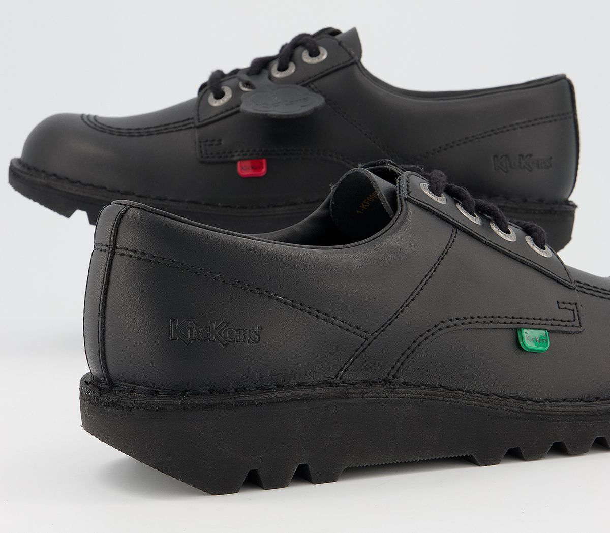 thumbnail 8 - Mens Kickers Kick Lo M Black Leather Formal Shoes