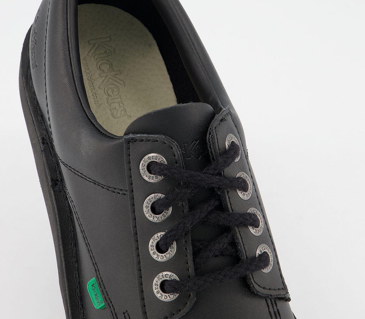 thumbnail 11 - Mens Kickers Kick Lo M Black Leather Formal Shoes