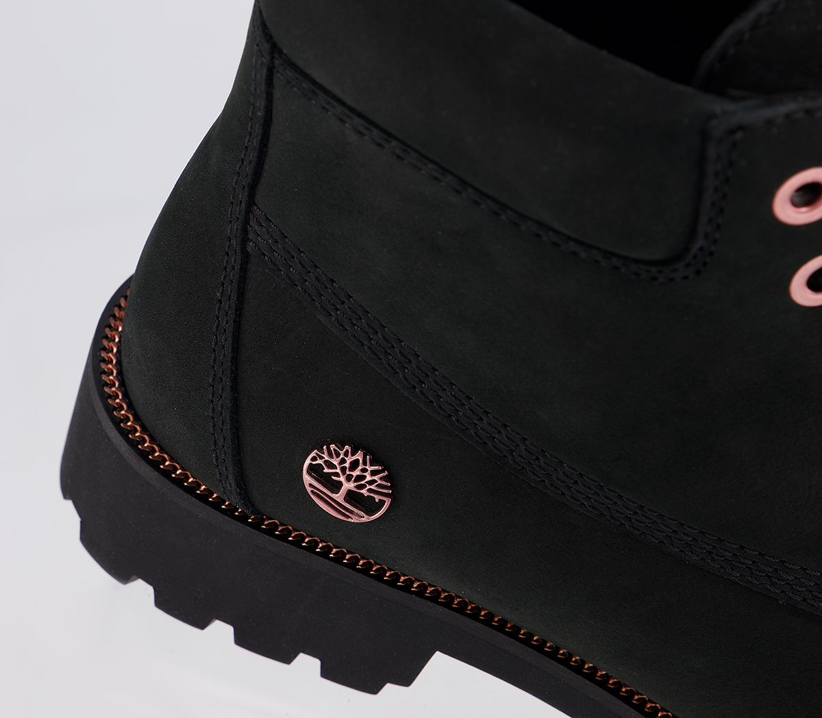 sobresalir Reparación posible Delgado  Womens Timberland Slim Premium 6 Inch Boots Black Rose Gold Chain Boots |  eBay