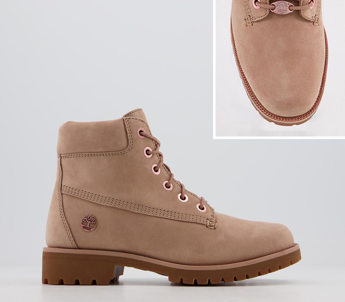 lanzar póngase en fila La cabra Billy  Womens Timberland Slim Premium 6 Inch Boots Tawny Rose Gold Chain Boots |  eBay