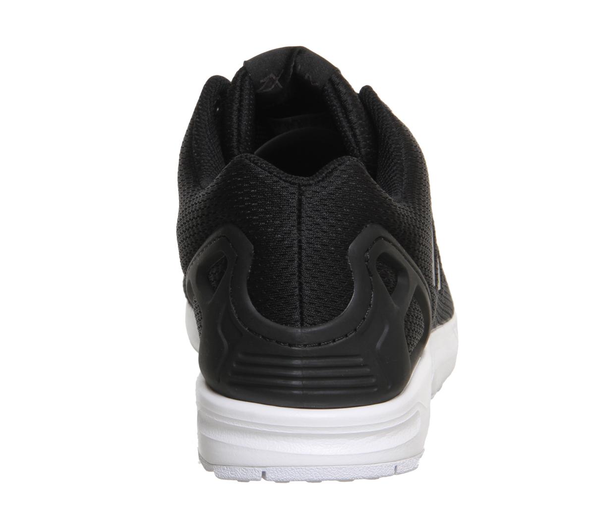 various colors 4c0dd 9bccf Sentinel Mens Adidas Zx Flux BLACK WHITE Trainers Shoes