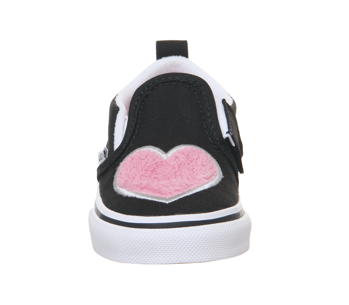 fc3417da7d8f Sentinel Kids Vans Classic Slip On Toddlers Trainers Strawberry Pink Black  Fur Heart Kids