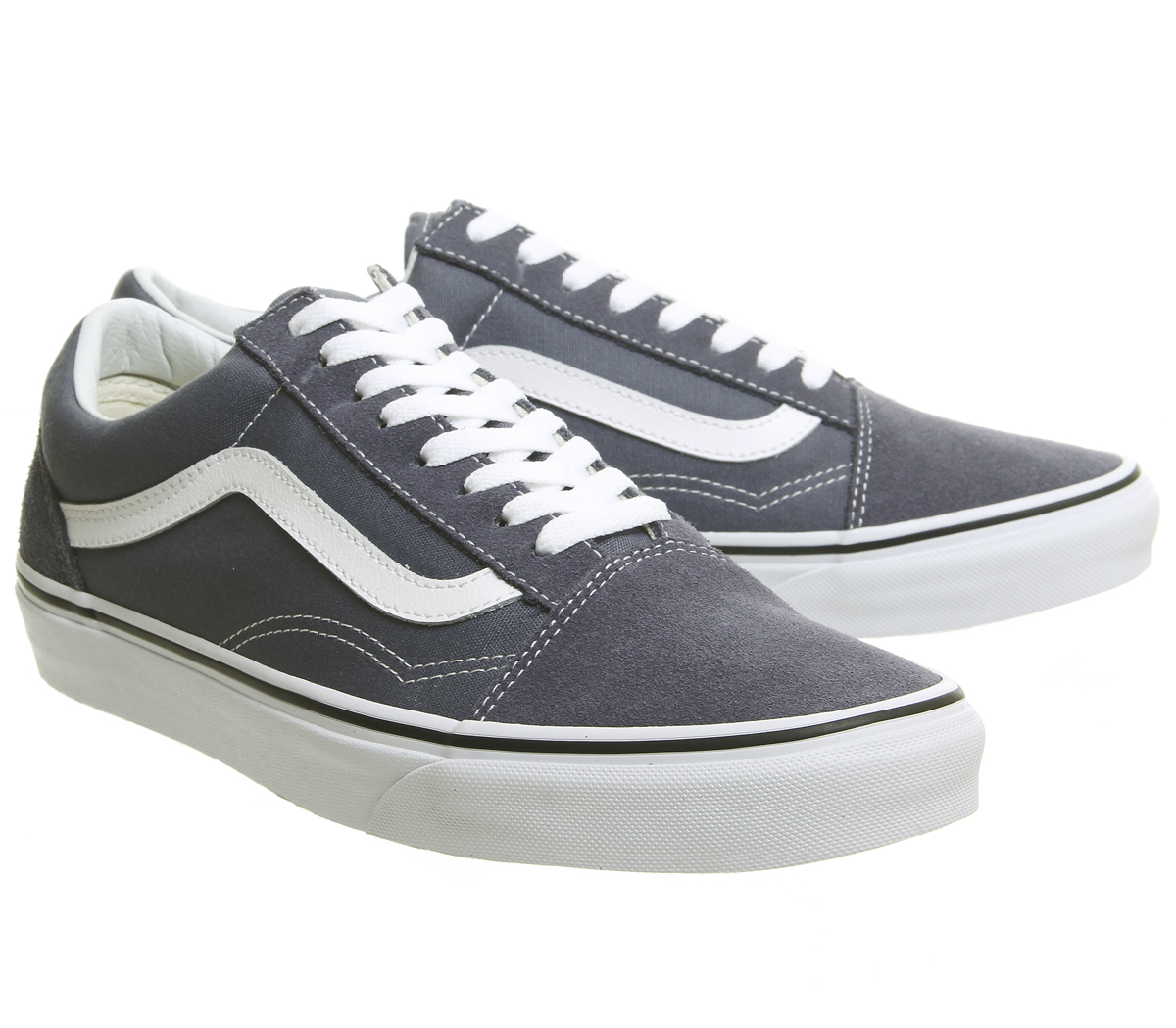 bddb2adf756648 Mens Vans Old Skool Trainers Grisaille White Trainers Shoes