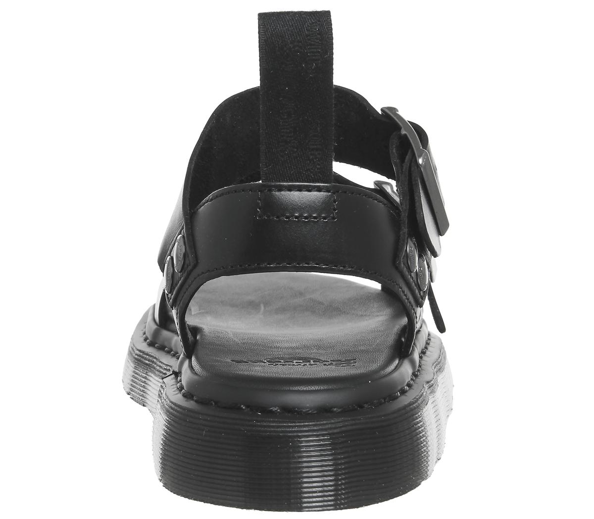Womens Dr. Dr. Dr. Martens Gryphon Sandals Black Brando Leather Sandals 1ade22