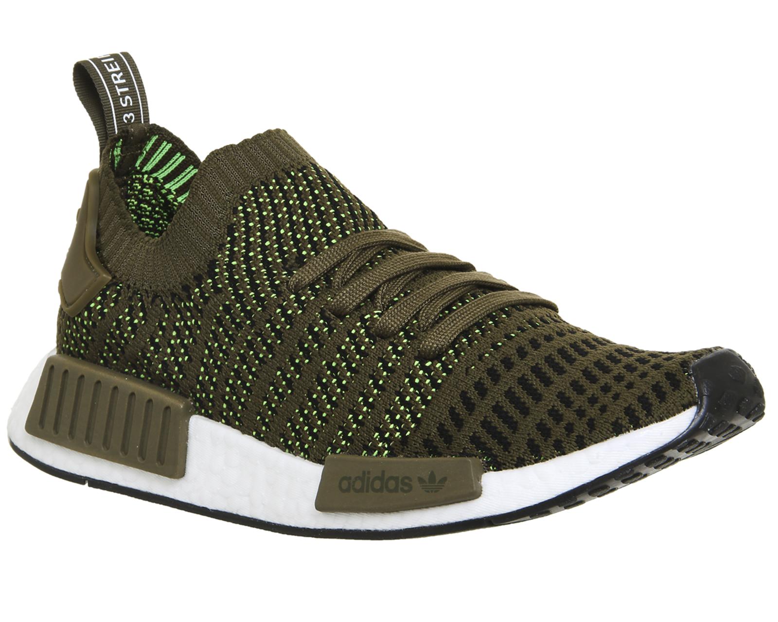 low priced cc50e 3b34e CENTINELA Hombres Adidas Nmd R1 primer punto entrenadores rastro oliva  zapatillas zapatos