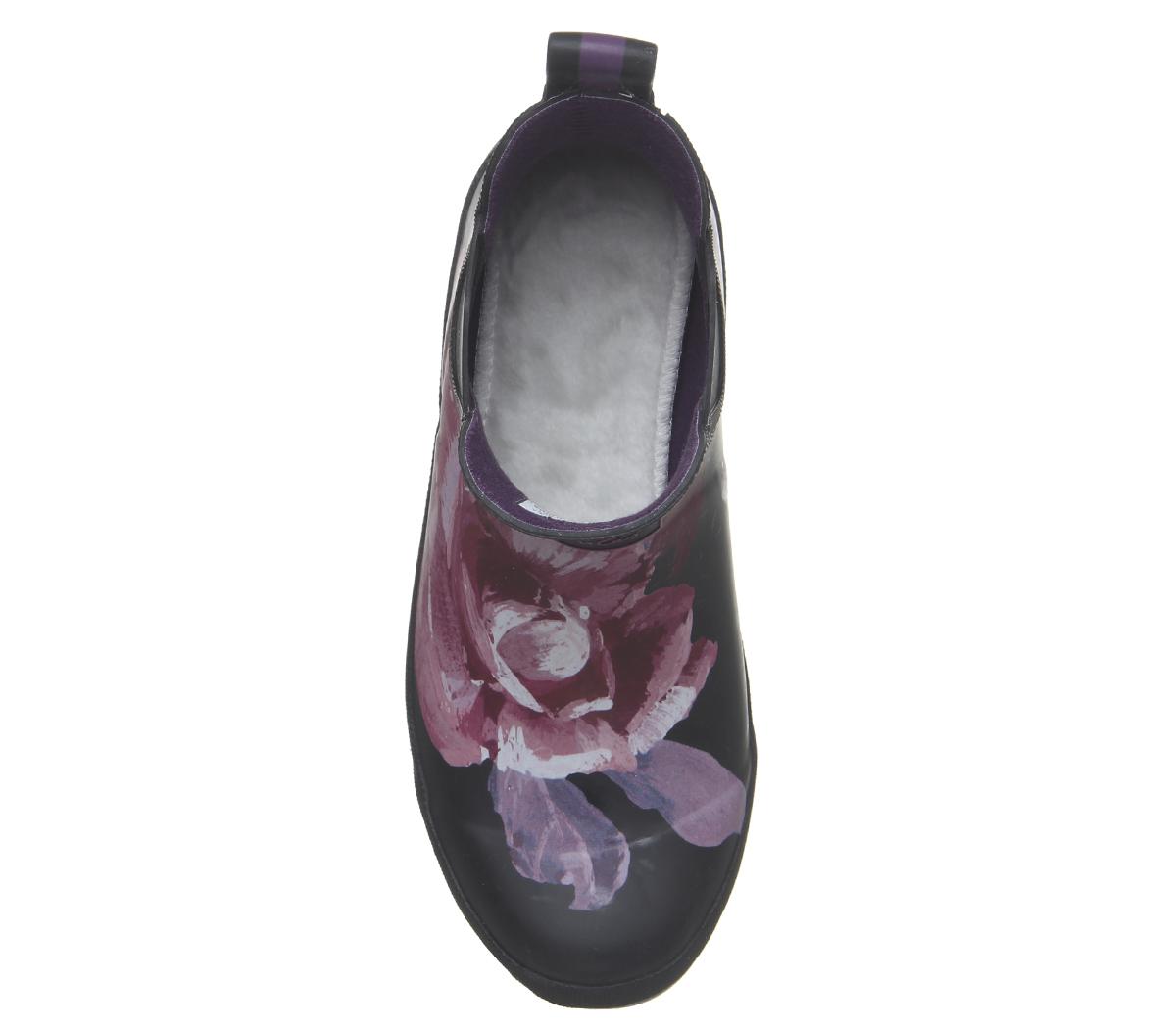 Donna Joules Wellibob Stivali di di di GOMMA Nero Invernale Floreale Stivali | Qualità Primacy  f4152f